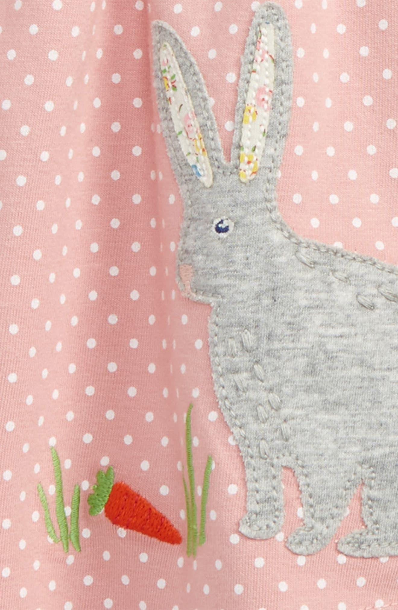 Alternate Image 2  - Mini Boden Appliqué Dress & Leggings Set (Baby Girls & Toddler Girls)