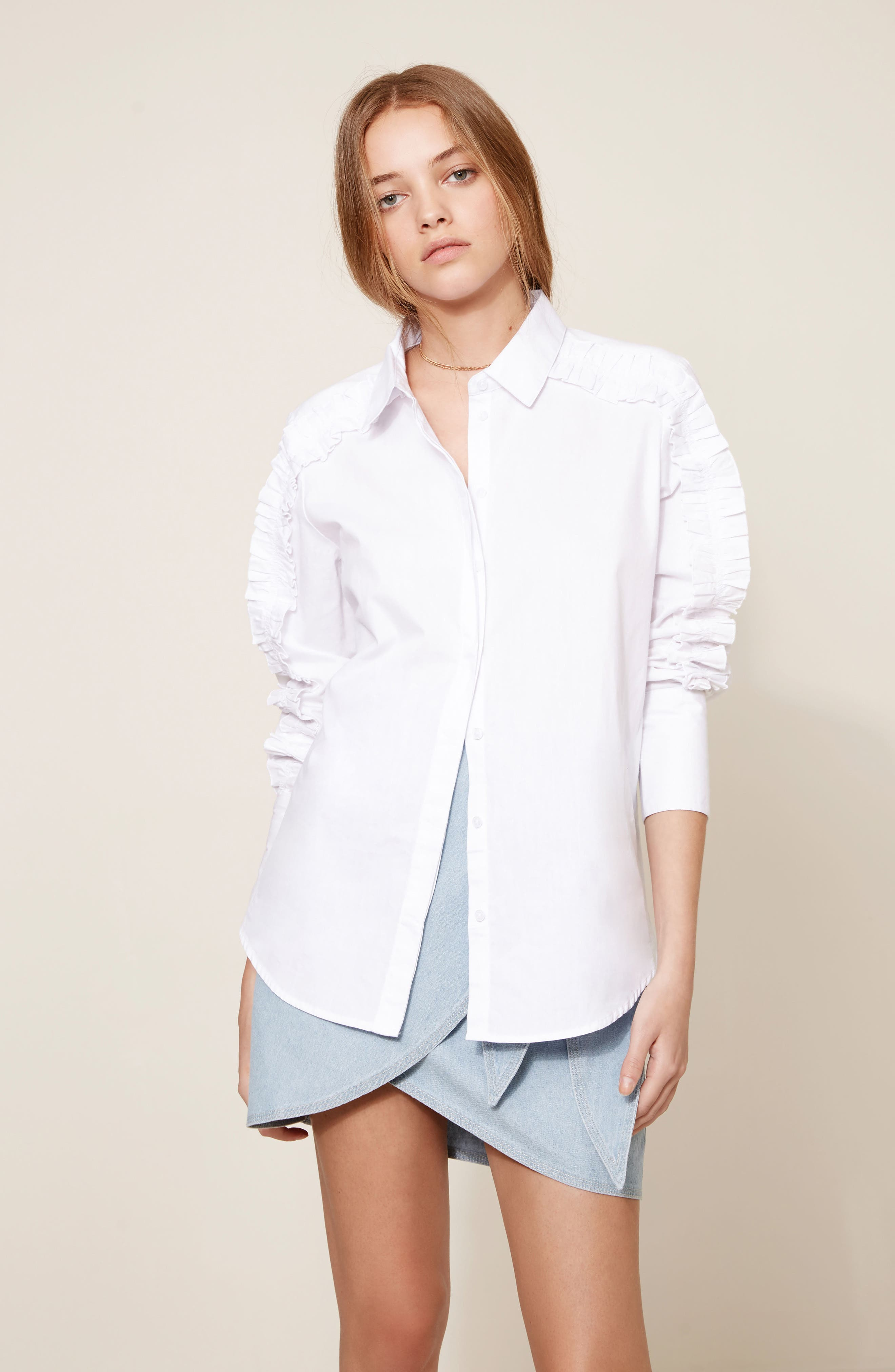Alternate Image 2  - The Fifth Label Closer Ruffle Sleeve Button Down Shirt