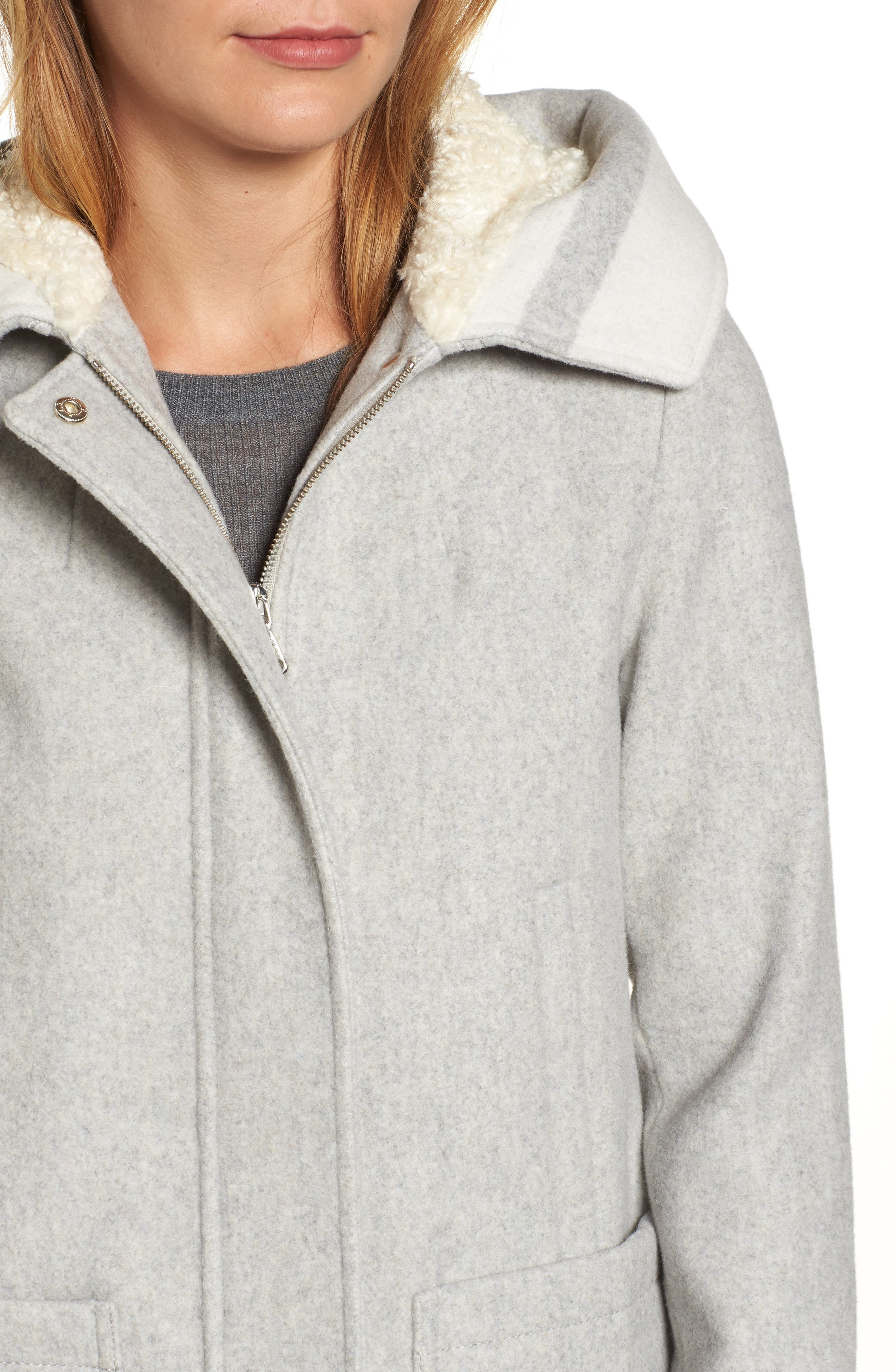 Alternate Image 4  - Vince Camuto Hooded Car Coat
