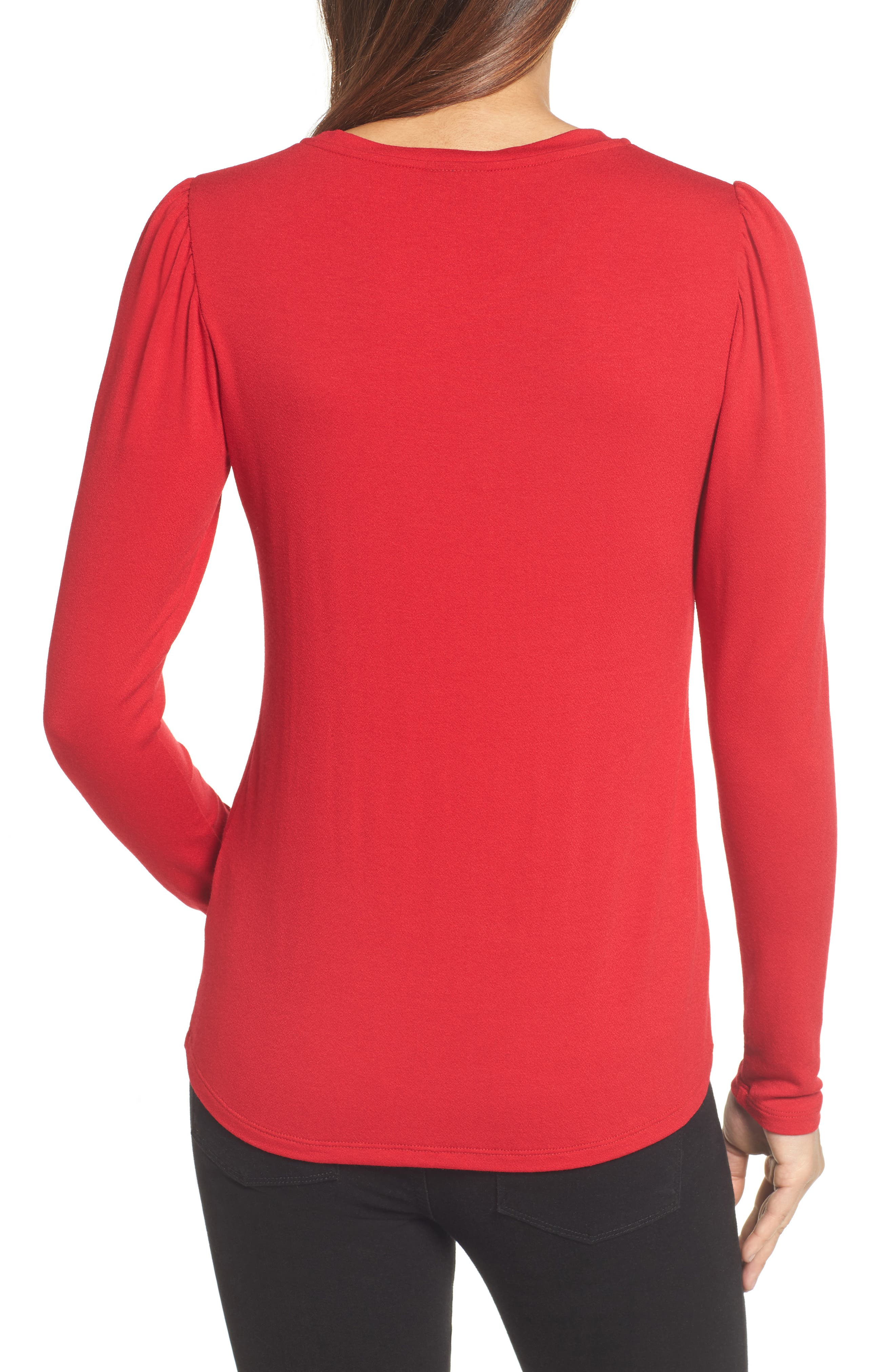 Bishop Knit Top,                             Alternate thumbnail 2, color,                             Red Chili