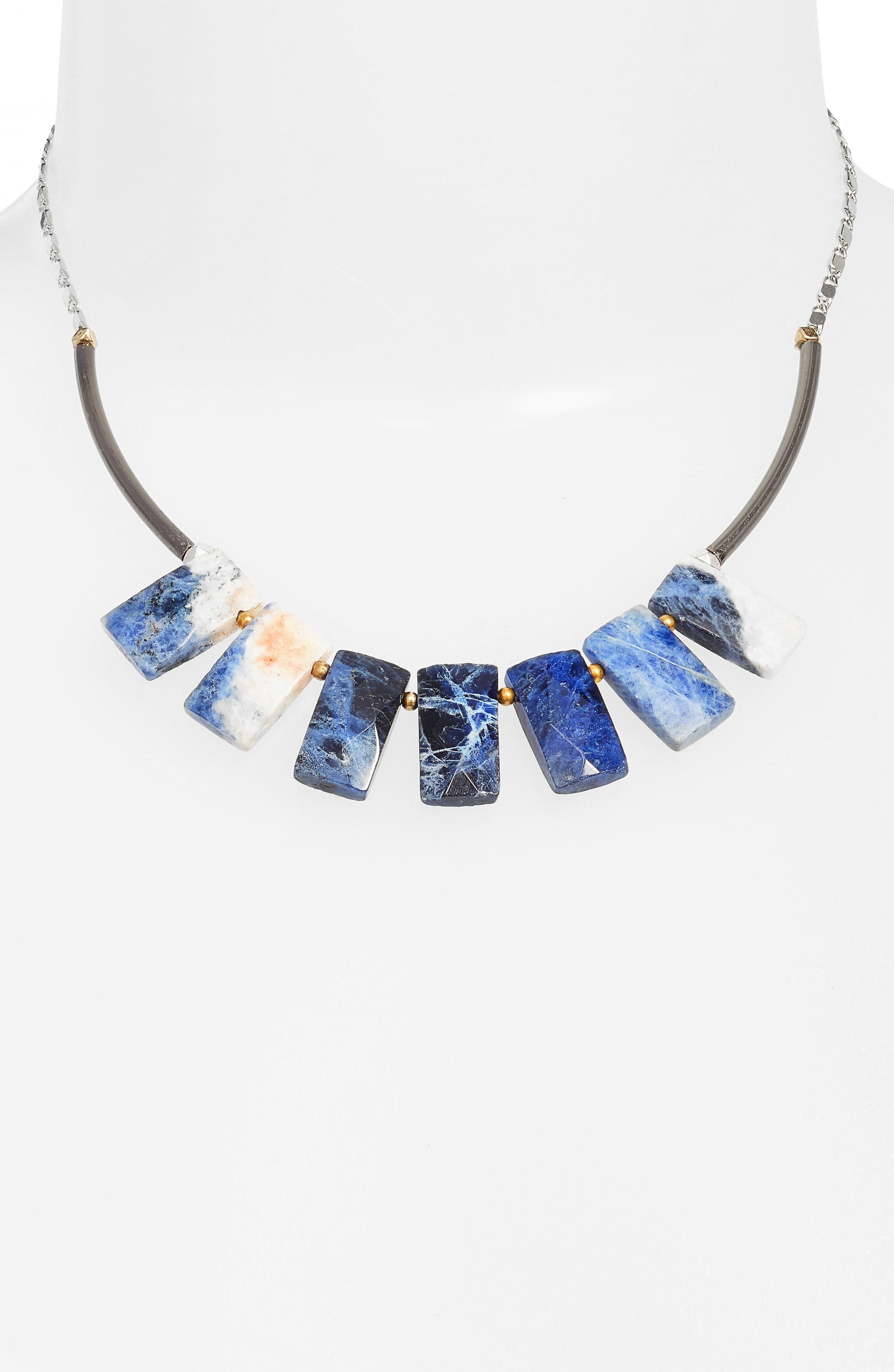 Cirrus Lapis Pendant Necklace,                         Main,                         color, Blue