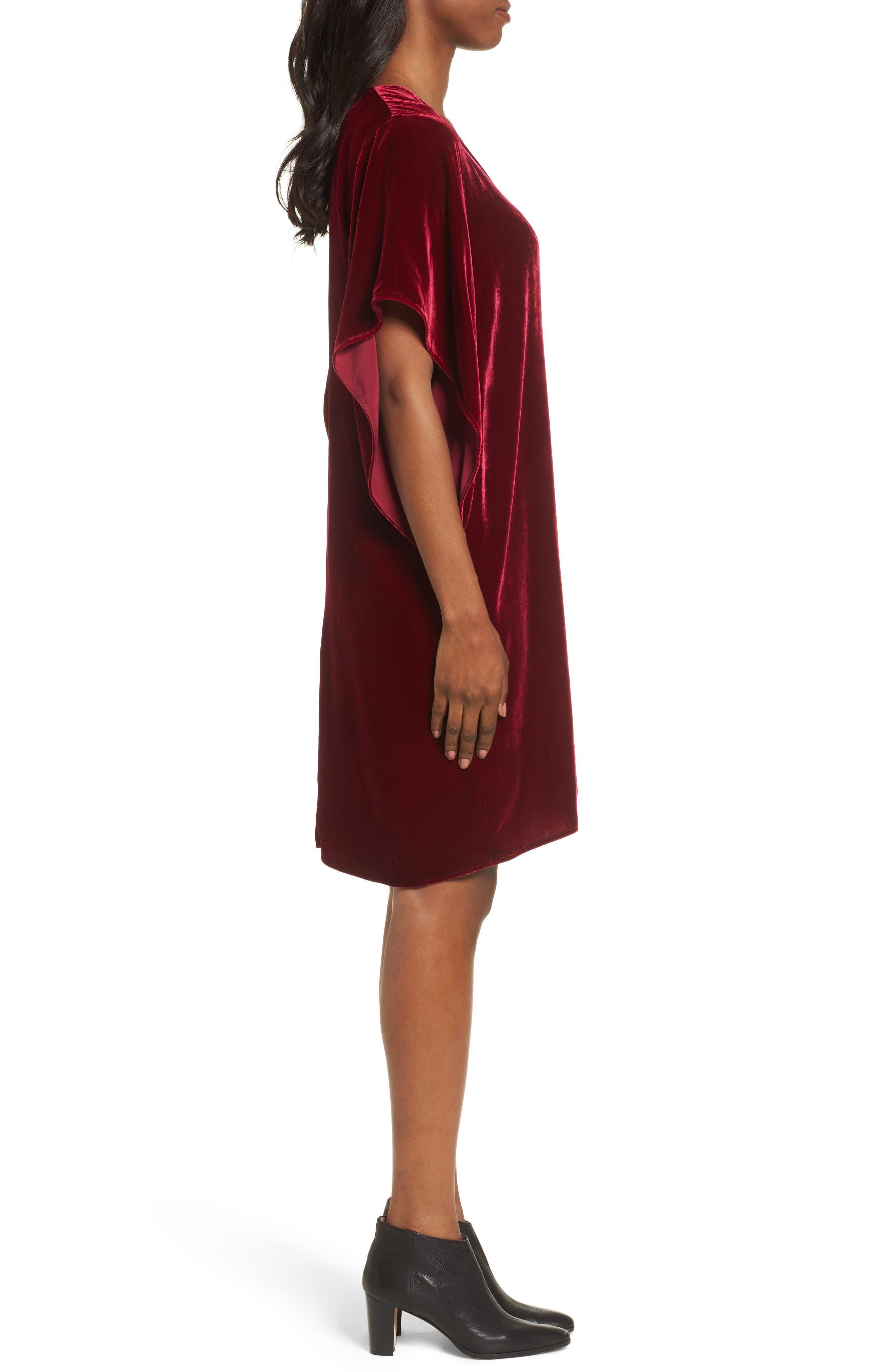 Alternate Image 3  - Eileen Fisher V-Neck Velvet Kimono Dress