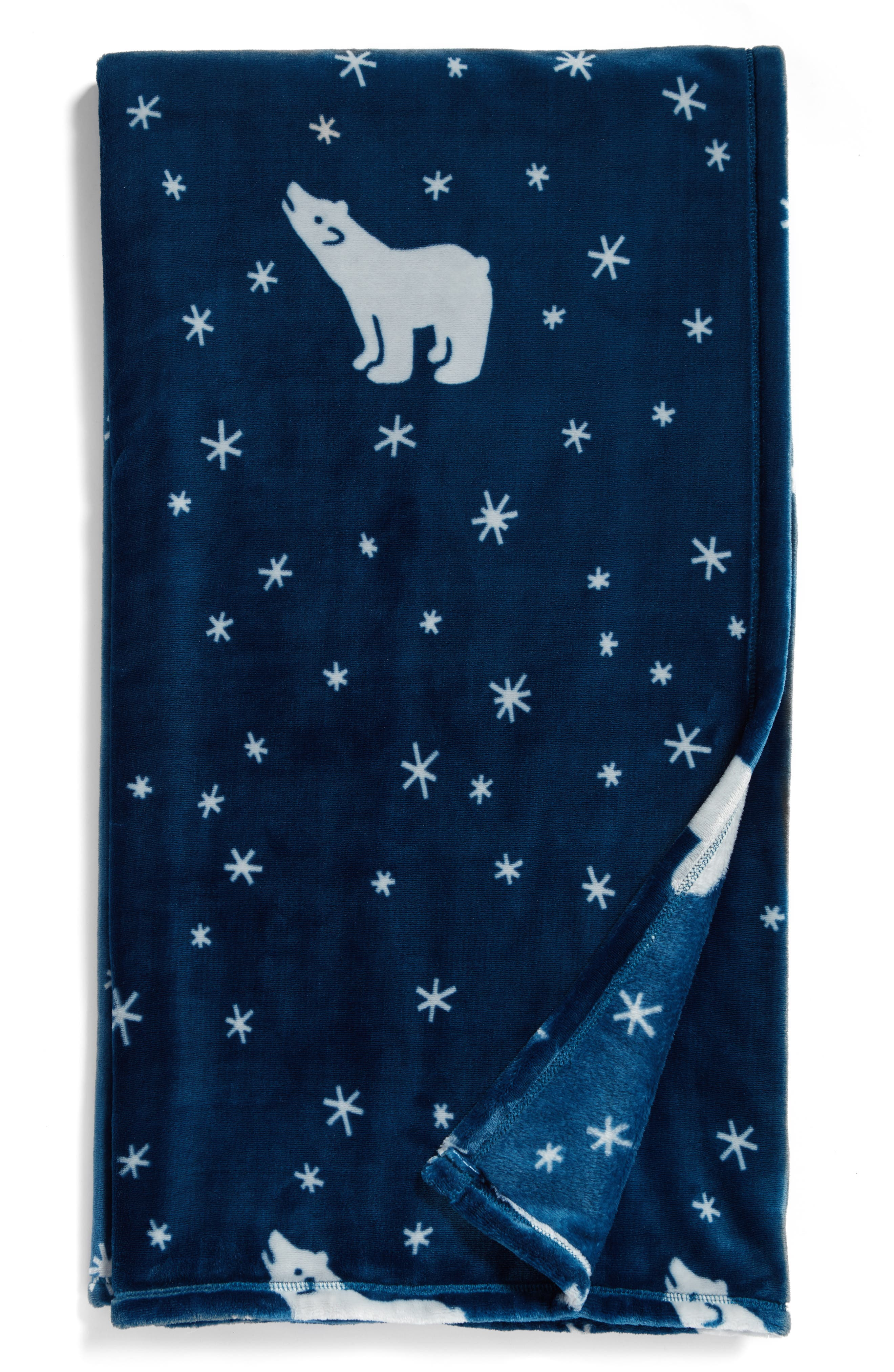 Alternate Image 1 Selected - Nordstrom at Home Print Plush Throw Blanket