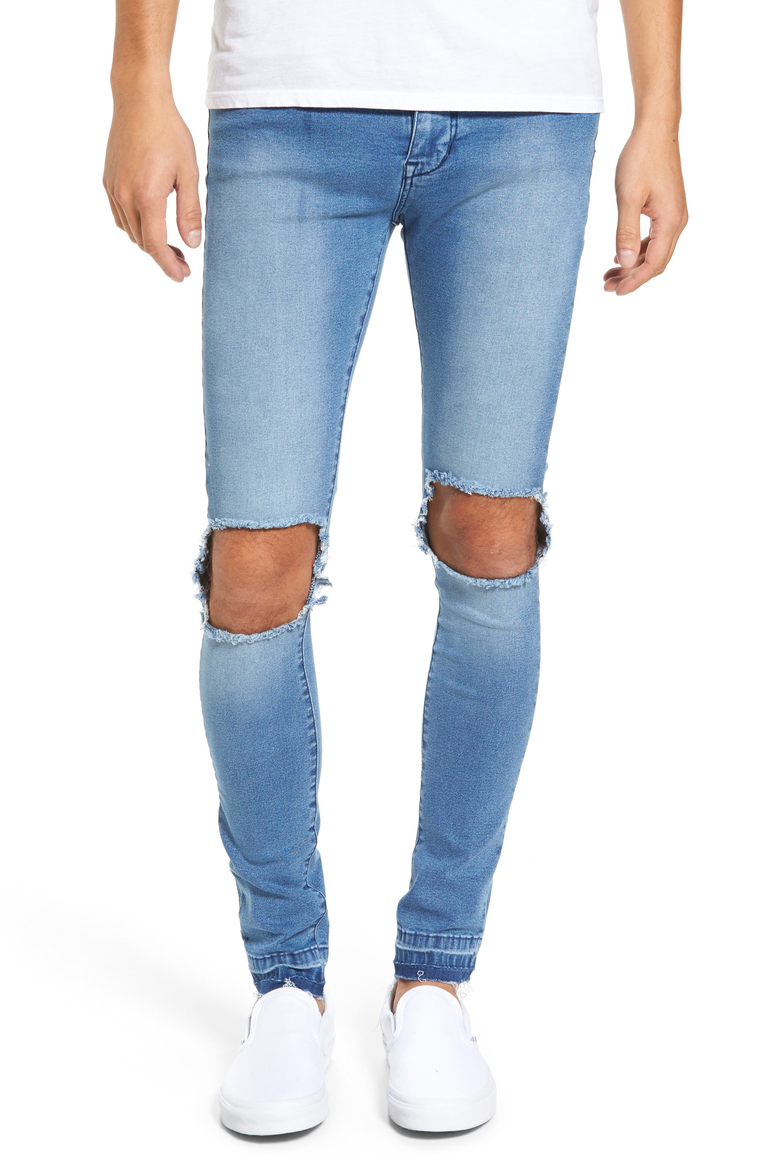 Leroy Slim Fit Jeans (Mid Wrecking Blue)