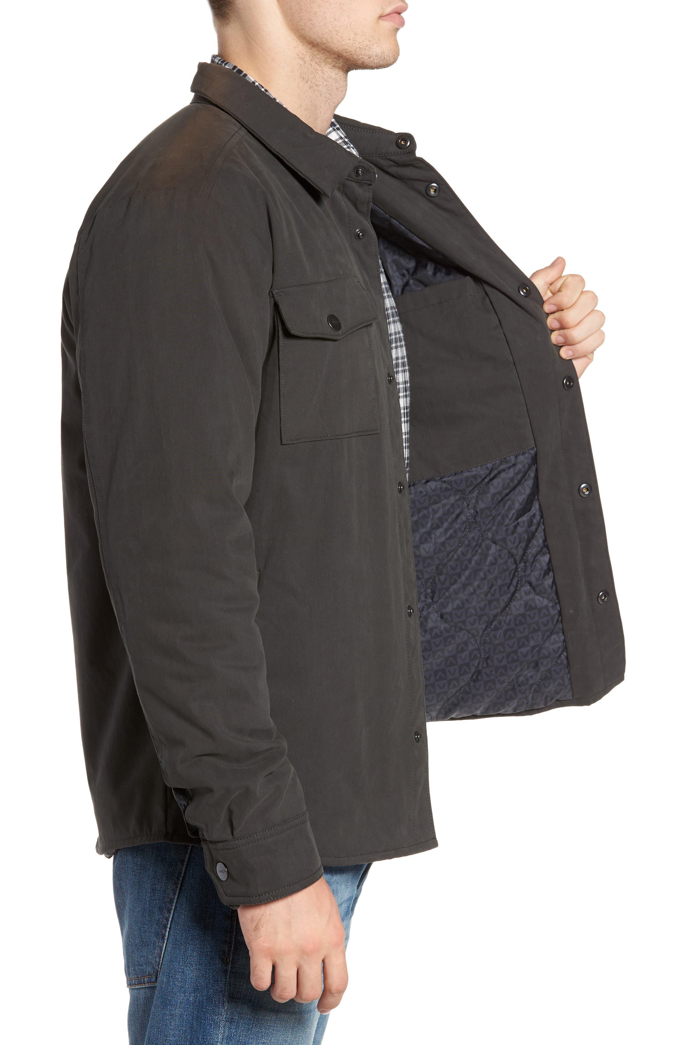 Officer's Shirt Jacket,                             Alternate thumbnail 3, color,                             Pirate Black