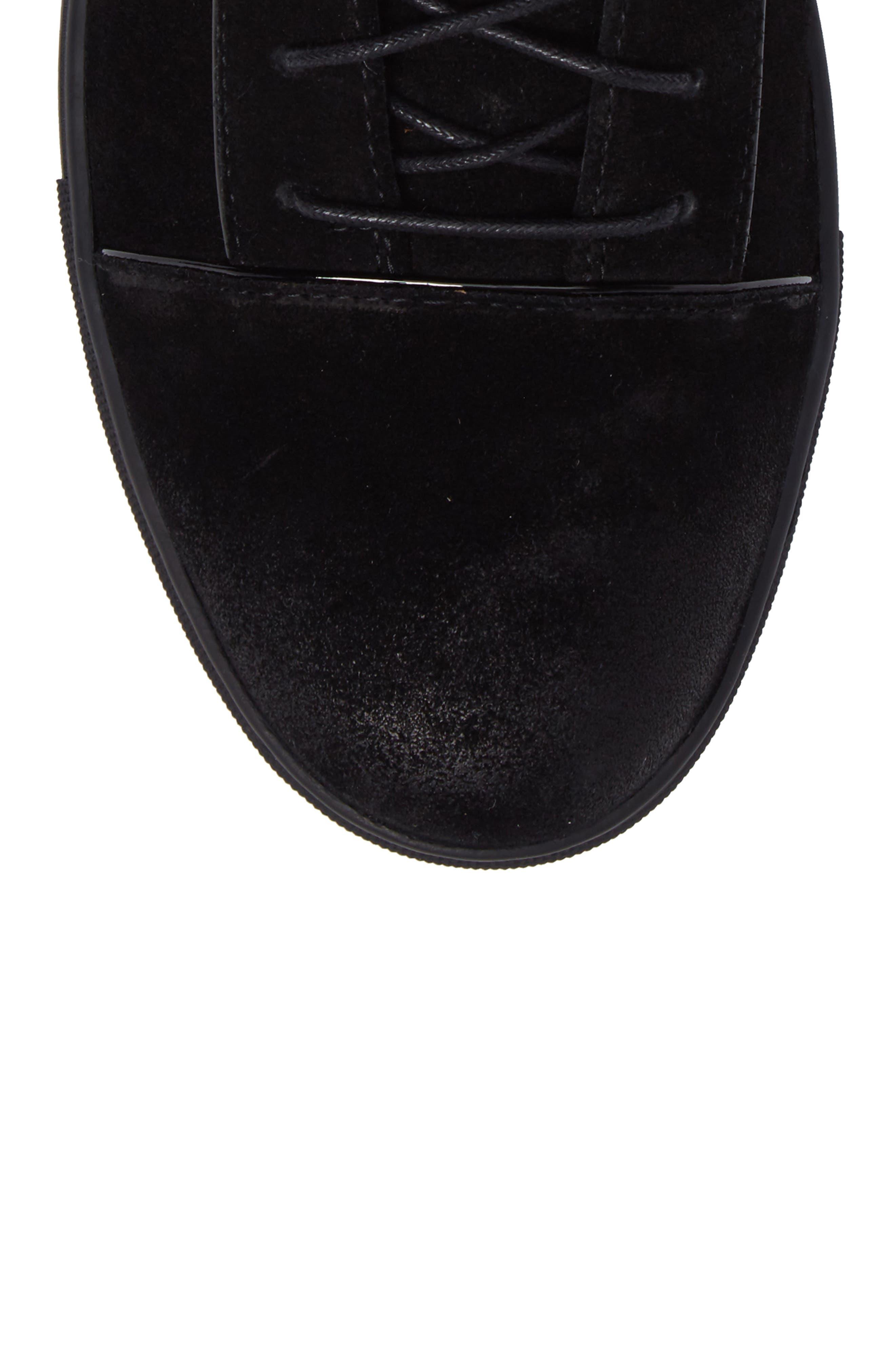 Grundy Sneaker,                             Alternate thumbnail 5, color,                             Black Suede