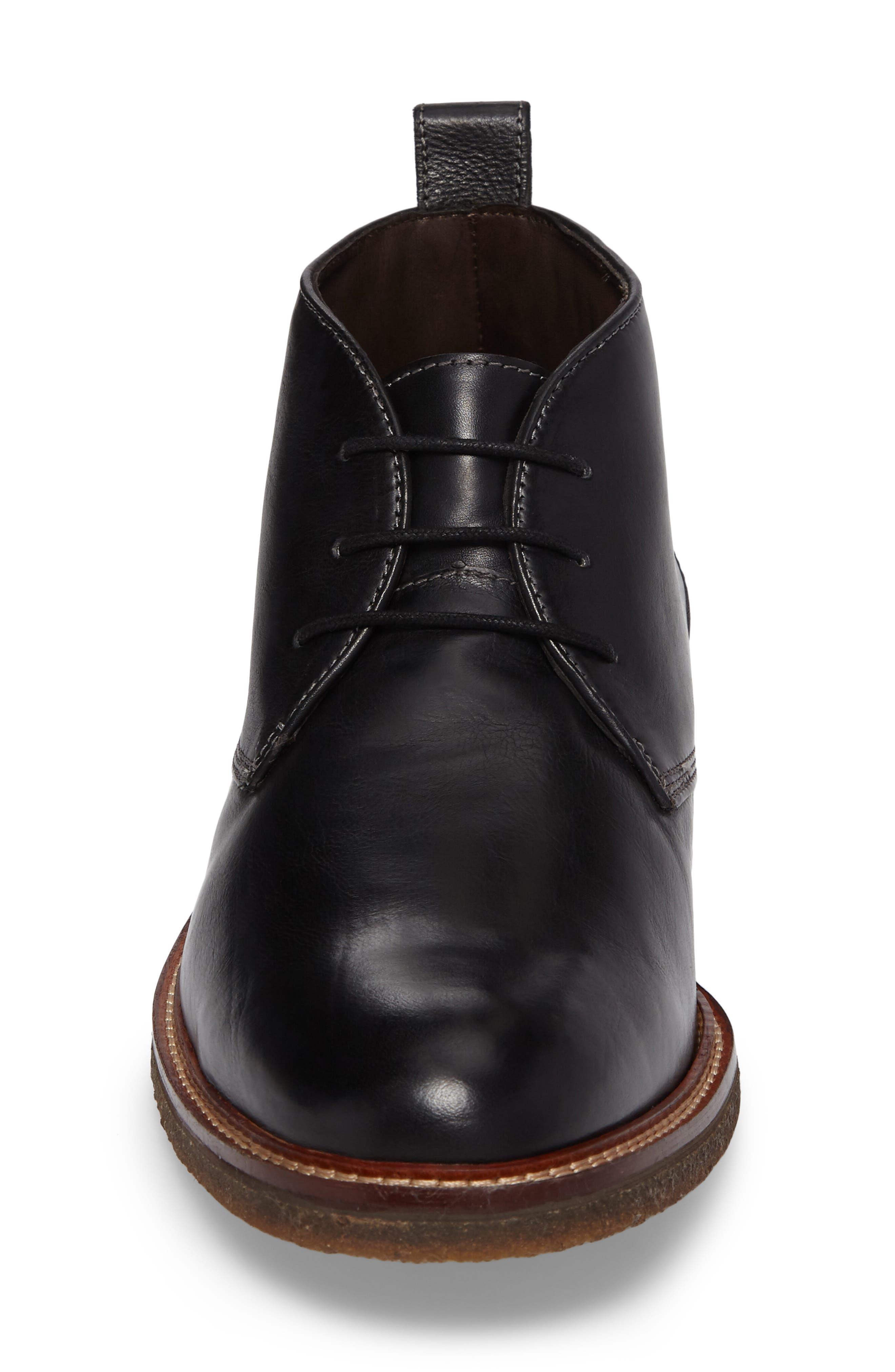 Forrester Chukka Boot,                             Alternate thumbnail 4, color,                             Black Leather