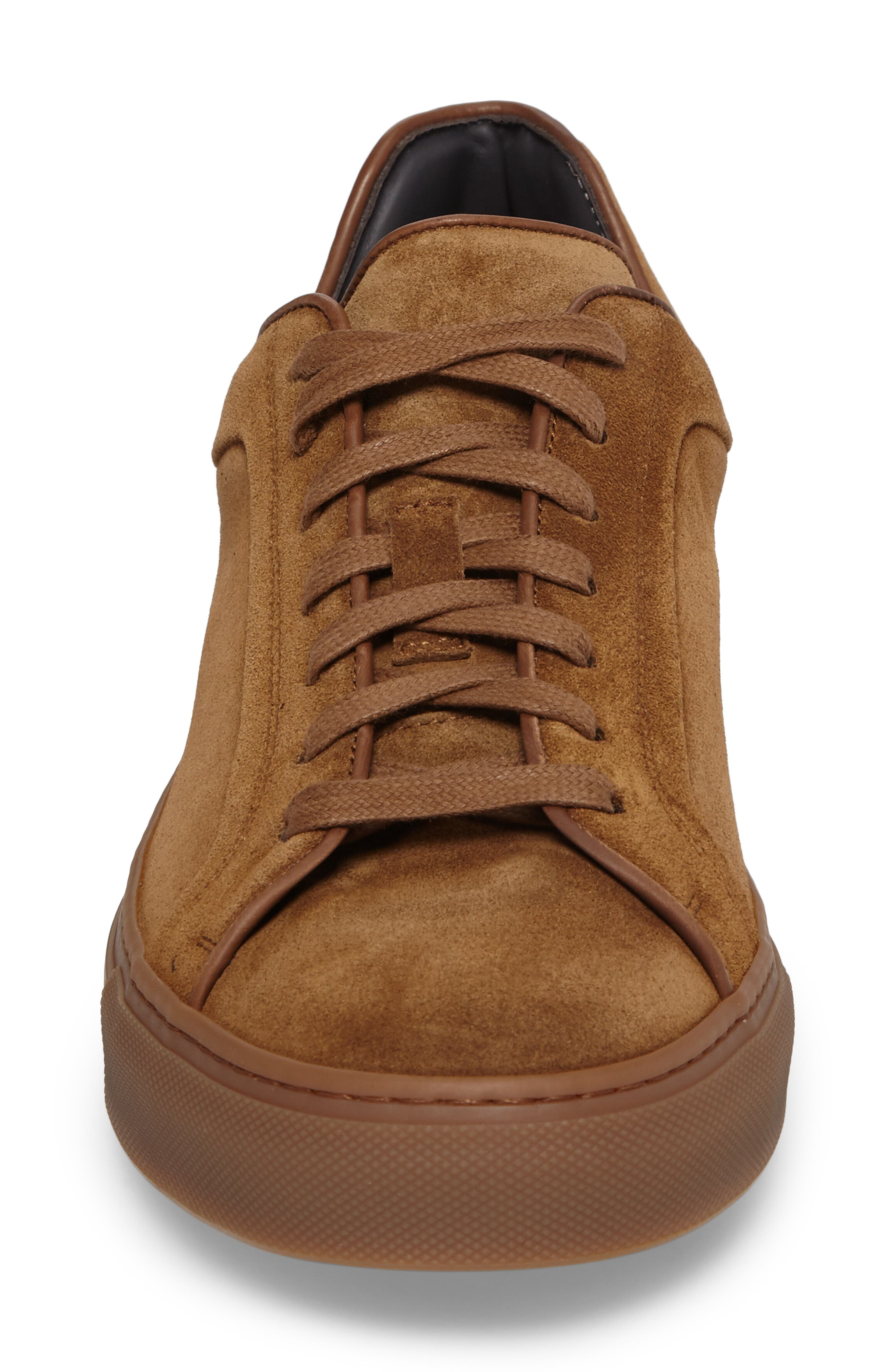 Marshall Sneaker,                             Alternate thumbnail 4, color,                             Brown Suede Leather