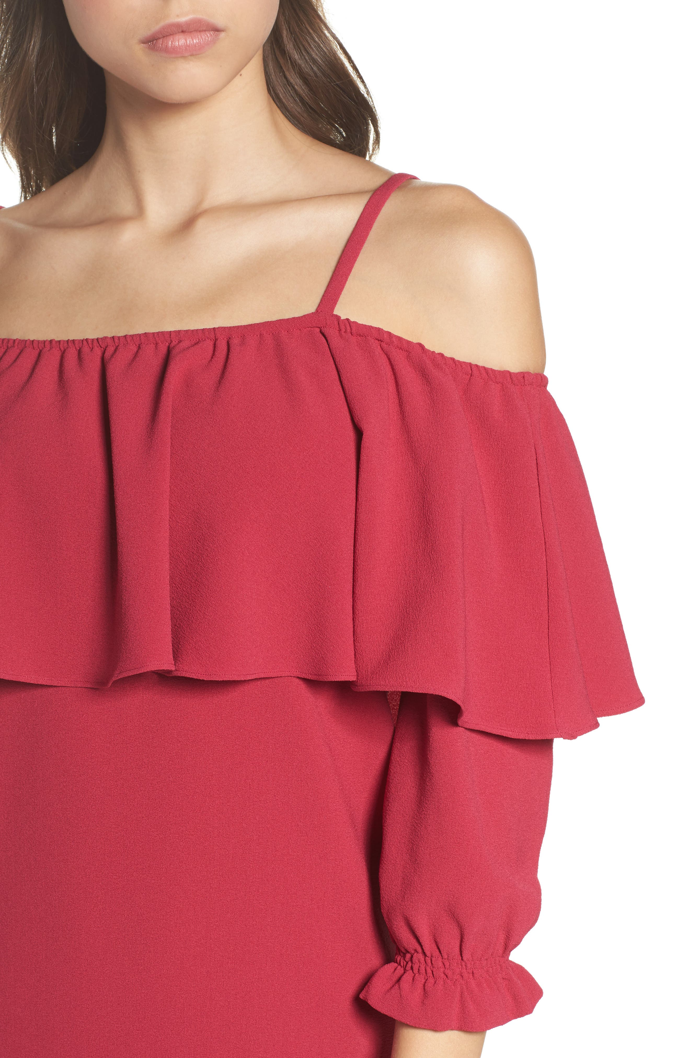 Alternate Image 4  - Felicity & Coco Meadow Ruffle Cold Shoulder Shift Dress (Nordstrom Exclusive)