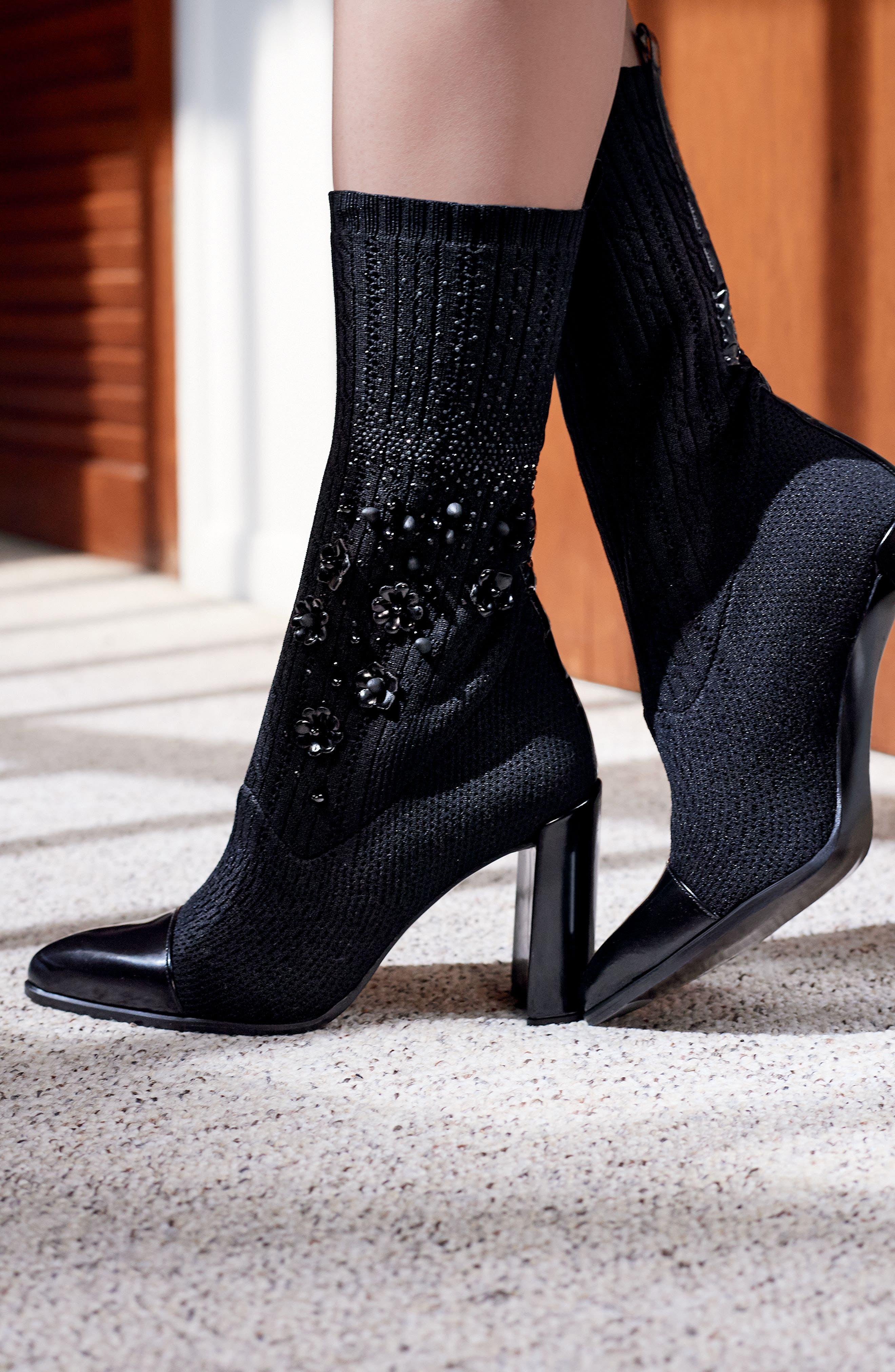 Alternate Image 7  - Stuart Weitzman Sockhop Embellished Boot (Women)