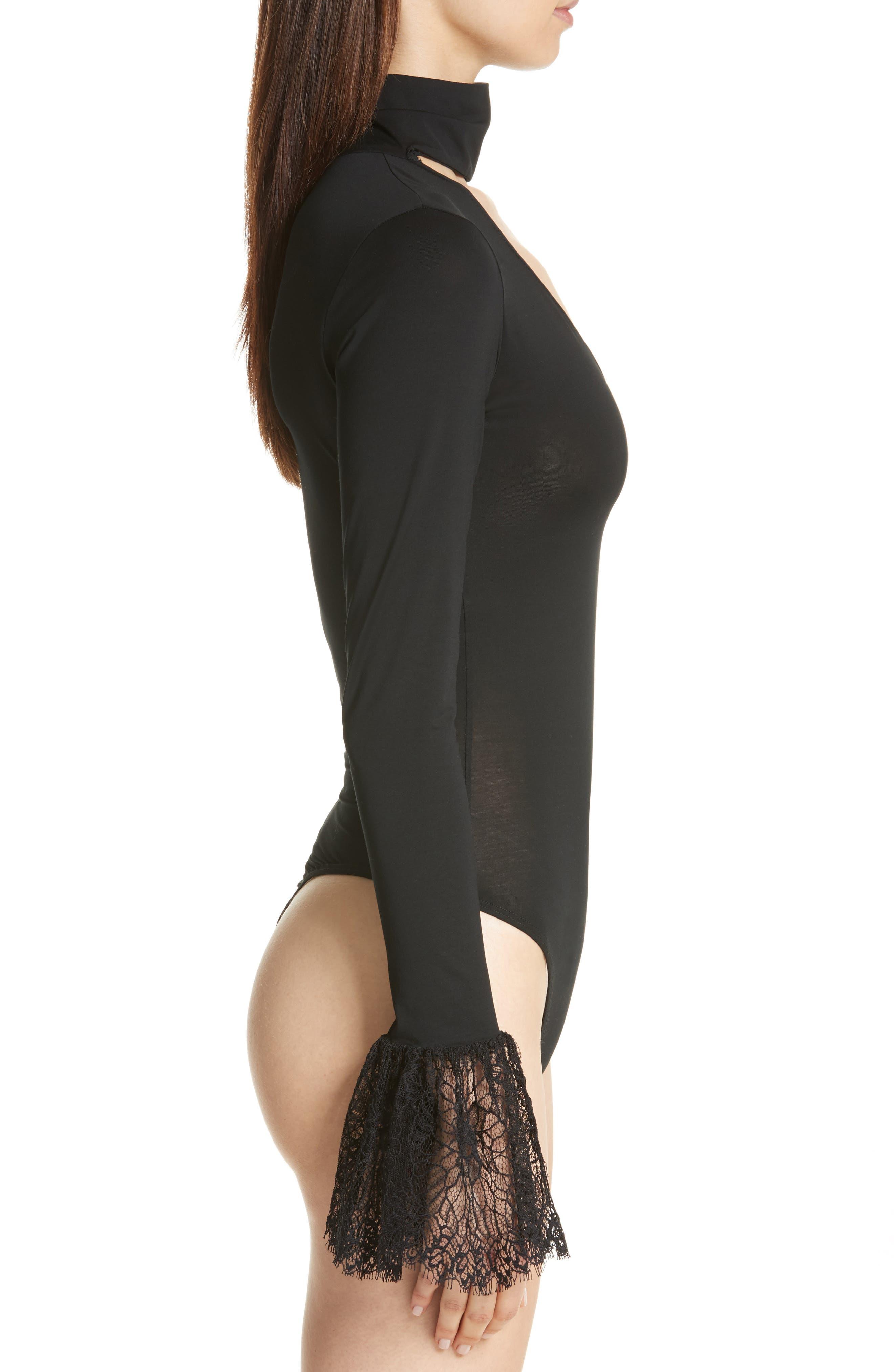 Elara Bodysuit,                             Alternate thumbnail 3, color,                             Black