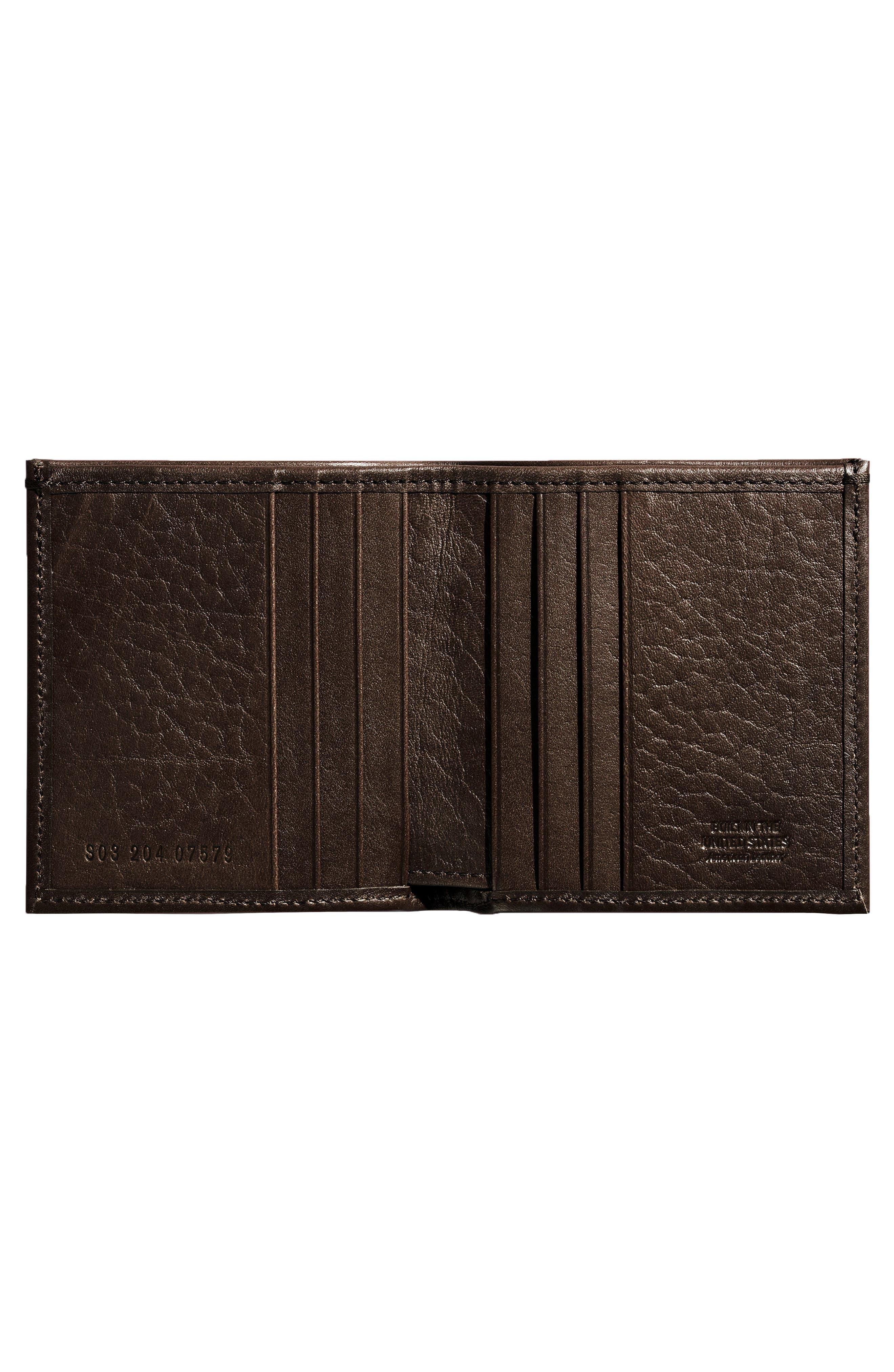 Alternate Image 2  - Shinola Square Bifold Leather Wallet