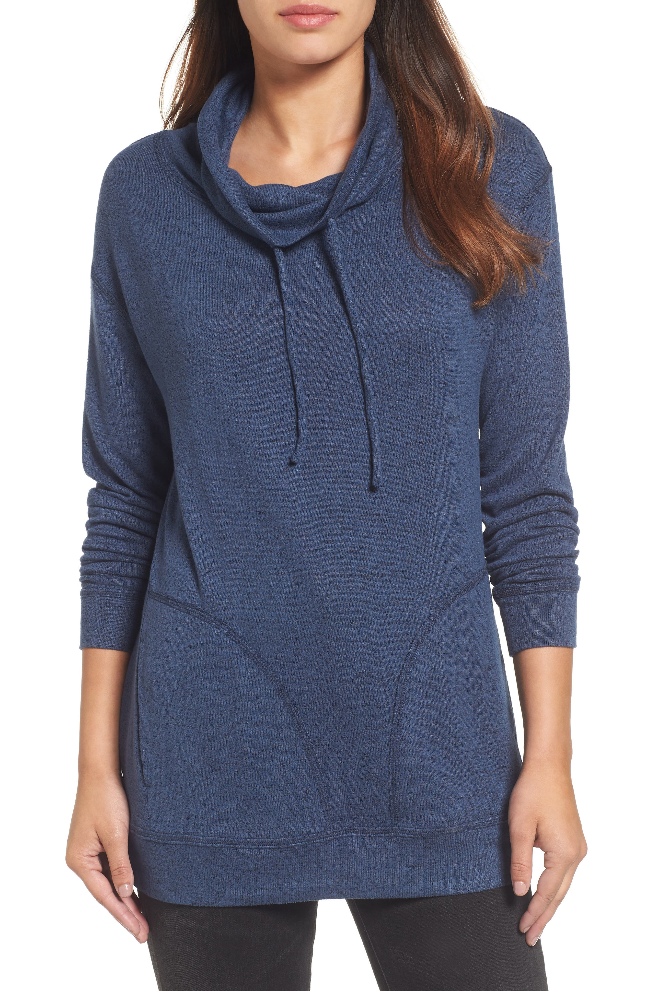 Caslon® Drawstring Cowl Tunic Top (Regular & Petite)