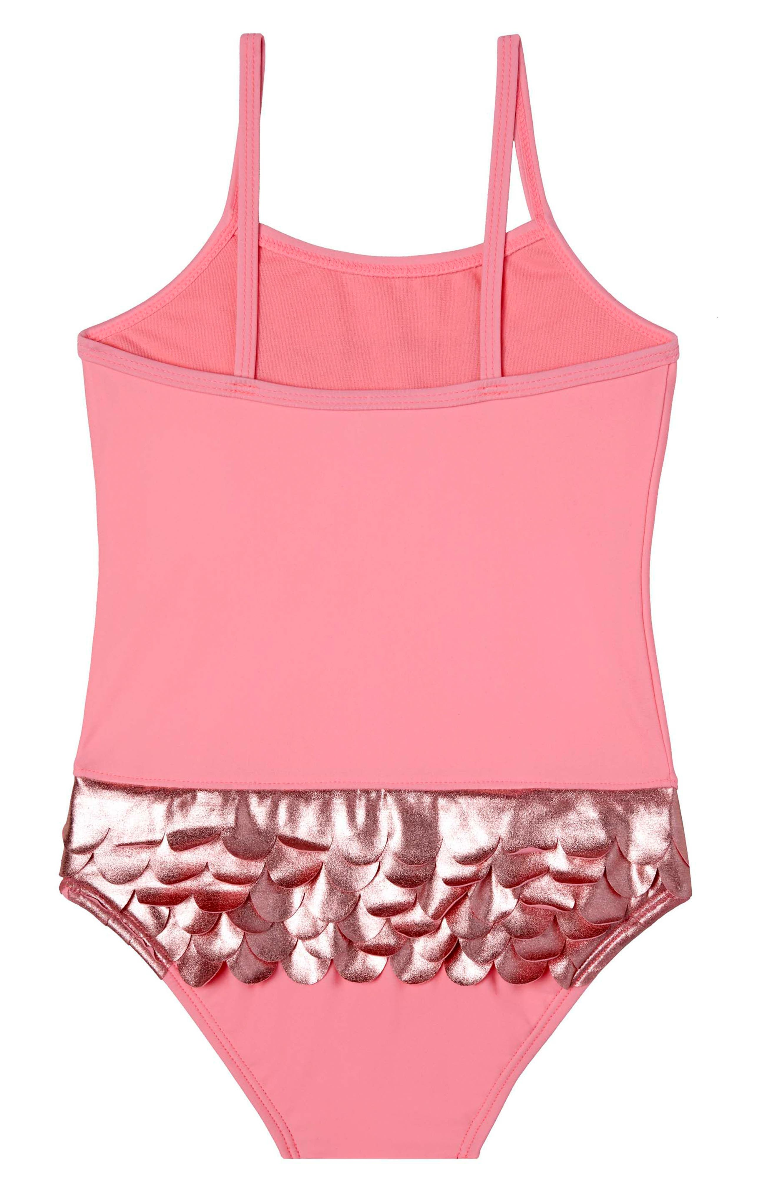 Mermaid Life One-Piece Swimsuit,                             Alternate thumbnail 2, color,                             Pink