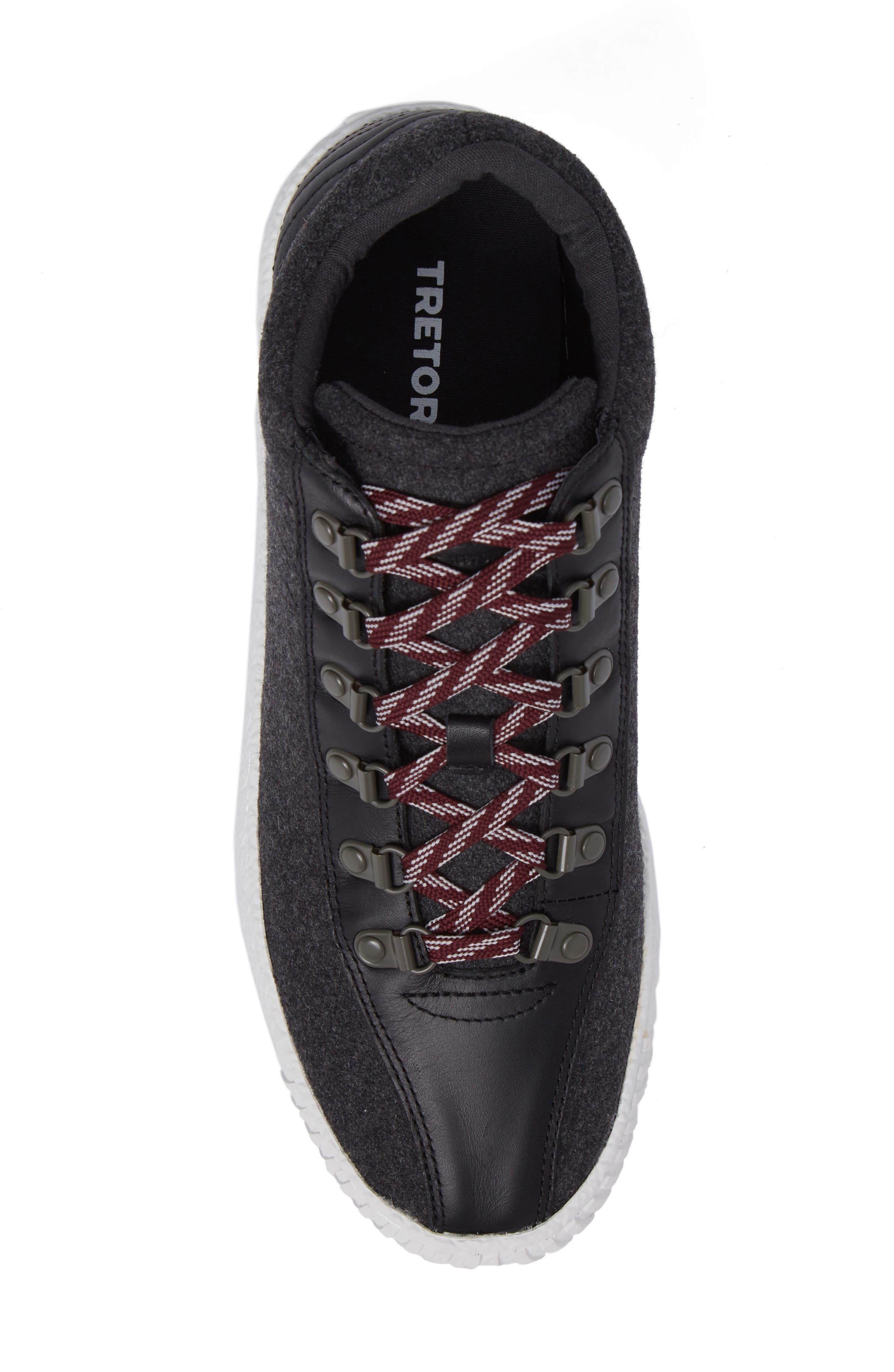 Dante Sneaker,                             Alternate thumbnail 5, color,                             Dark Grey/ Black