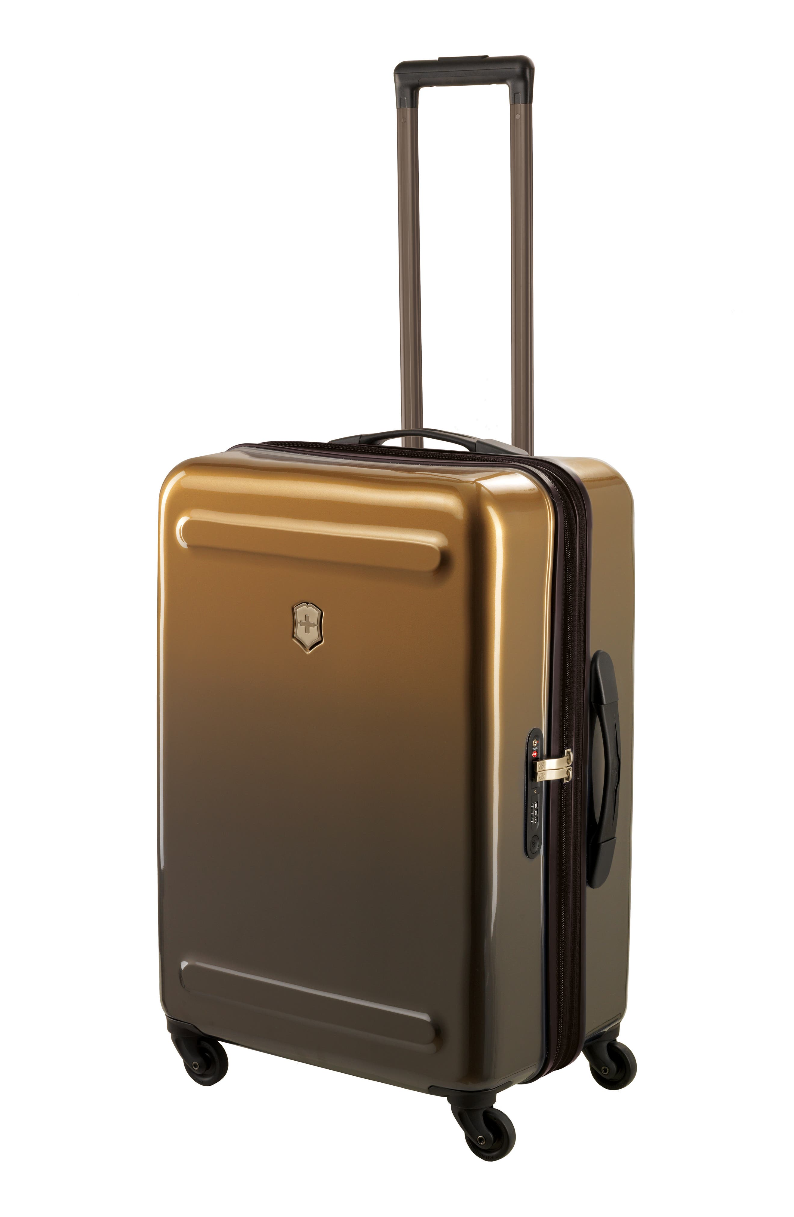 Etherius 26-Inch Wheeled Suitcase,                             Alternate thumbnail 3, color,                             Bronze