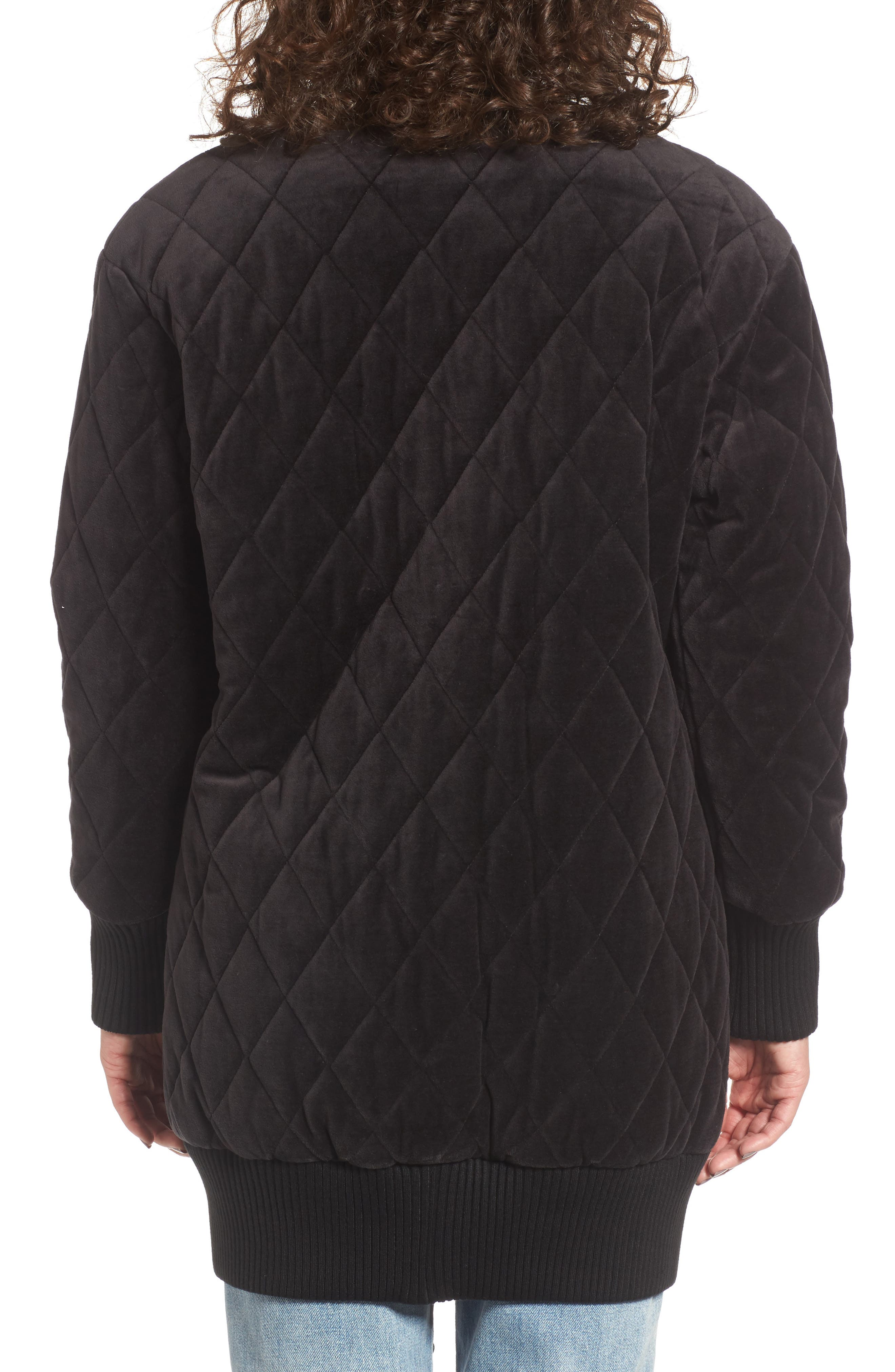 Alternate Image 2  - Juicy Couture Velour Quilted Puffer Coat