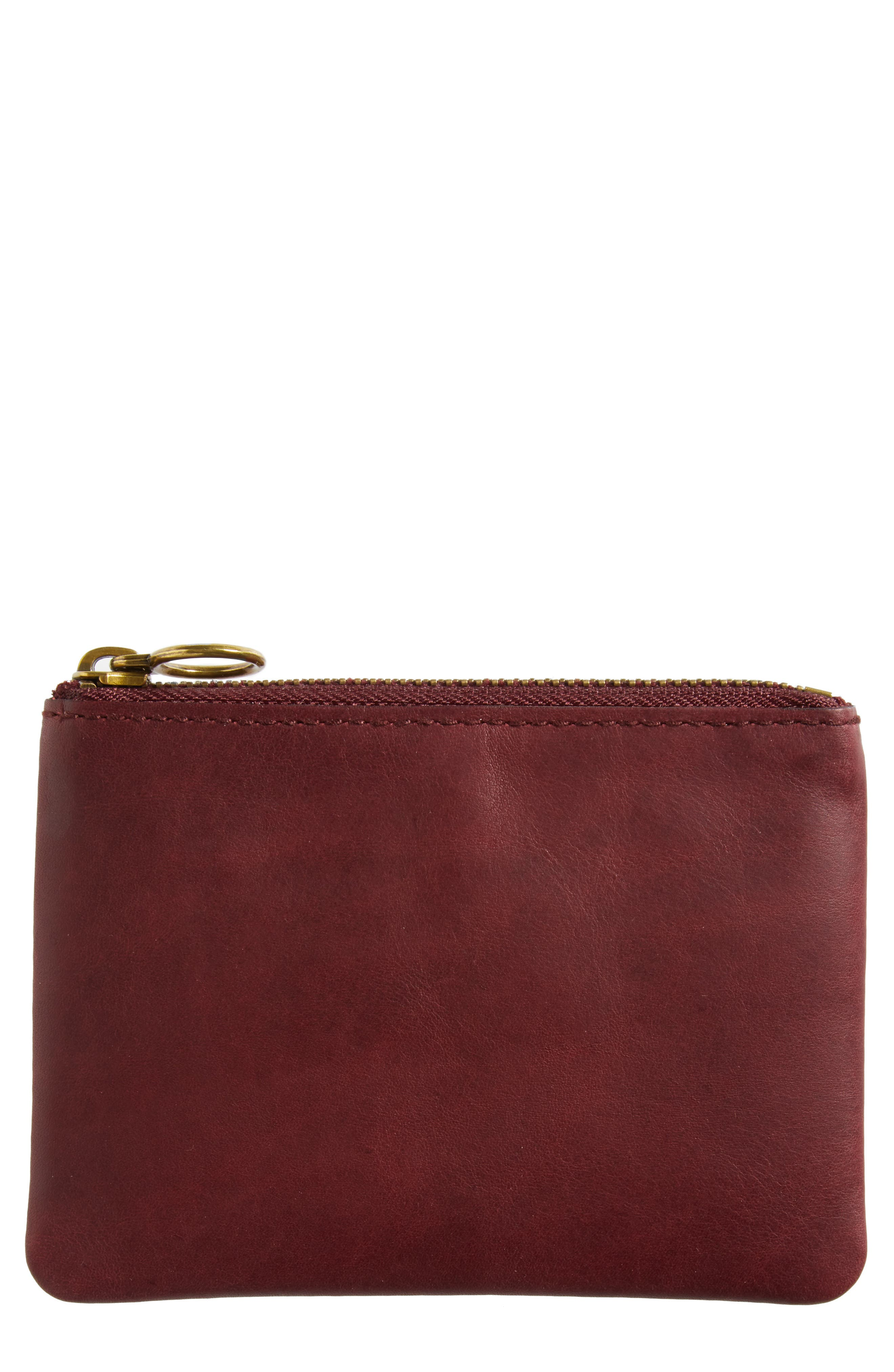 The Leather Pouch Wallet,                         Main,                         color, Dark Cabernet