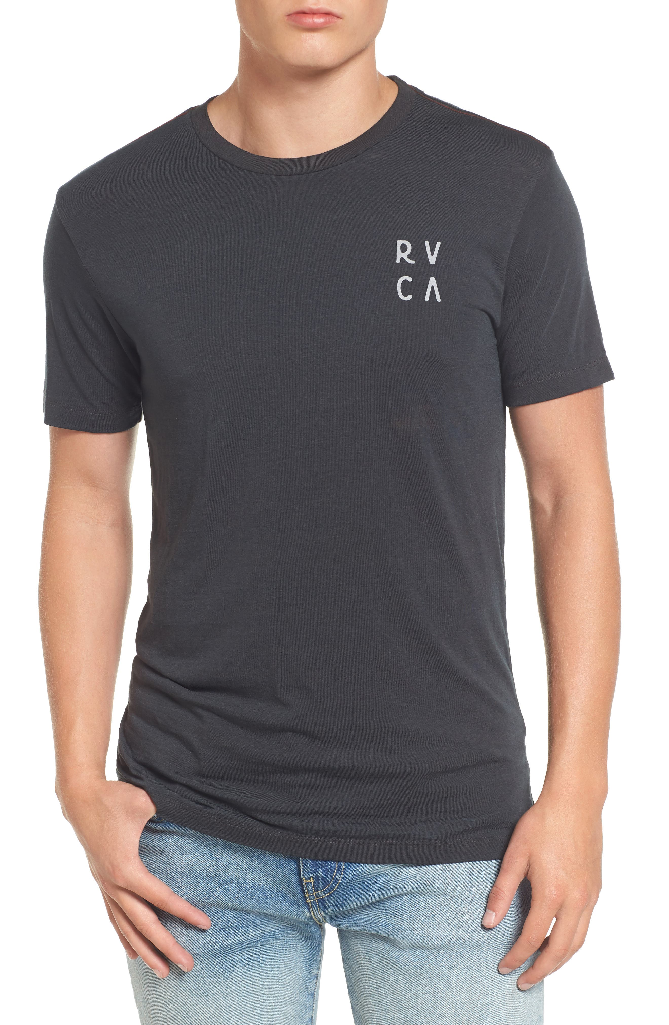 Main Image - RVCA Opposing Moons Graphic Burnout T-Shirt