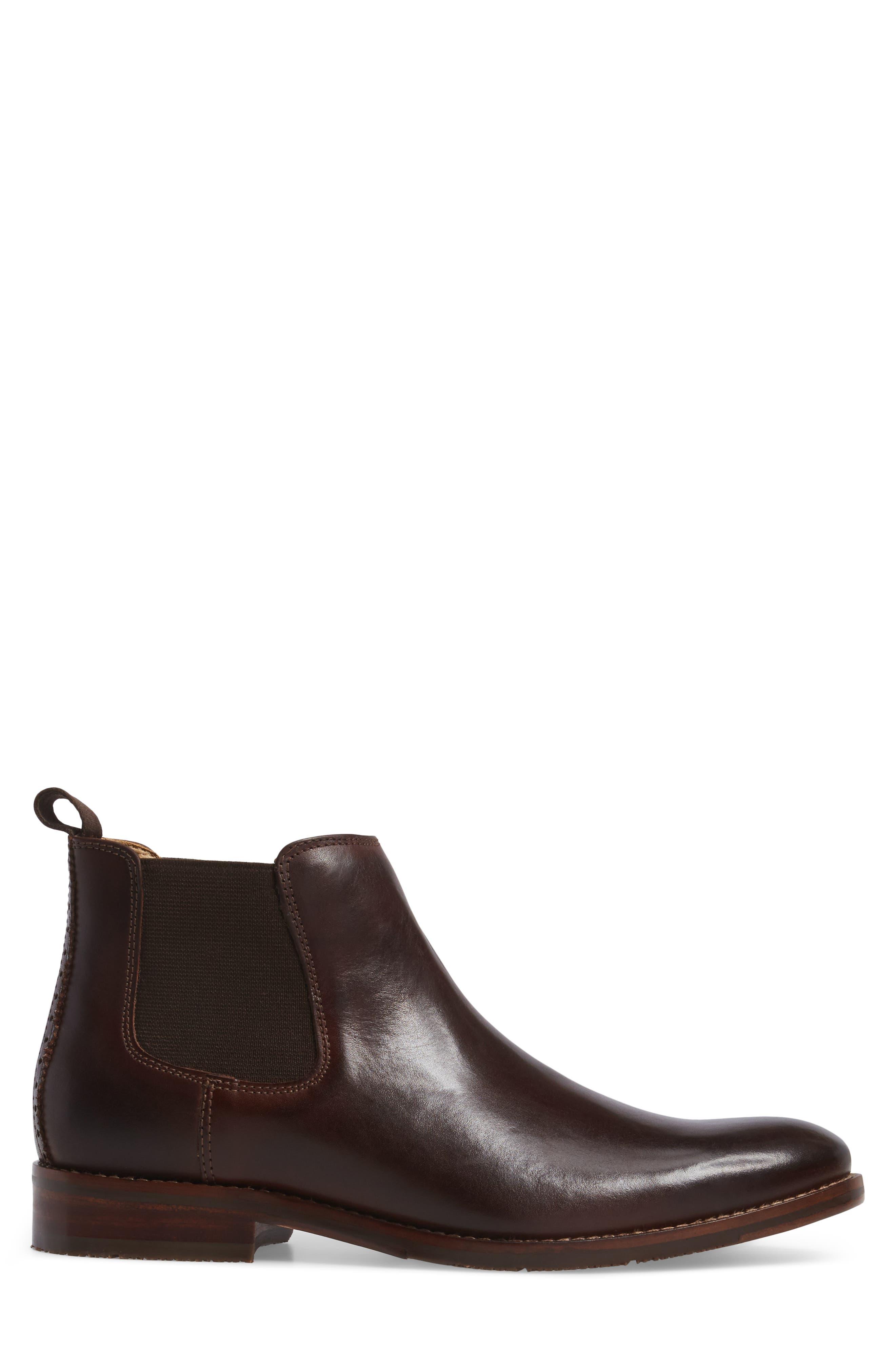Garner Chelsea Boot,                             Alternate thumbnail 3, color,                             Mahogany Leather