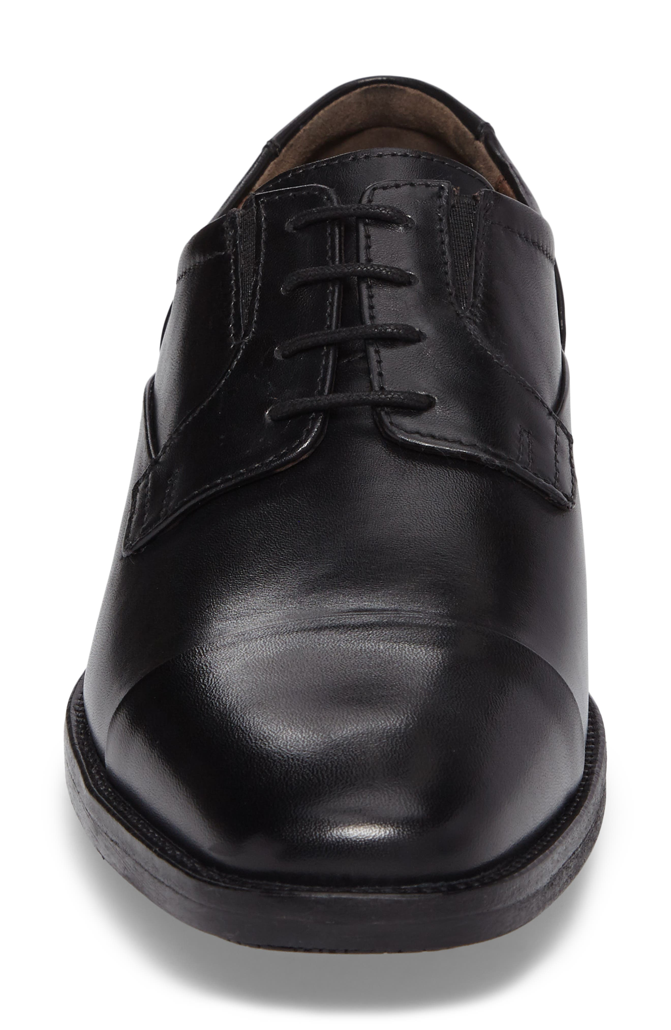 Lancaster Cap Toe Derby,                             Alternate thumbnail 4, color,                             Black