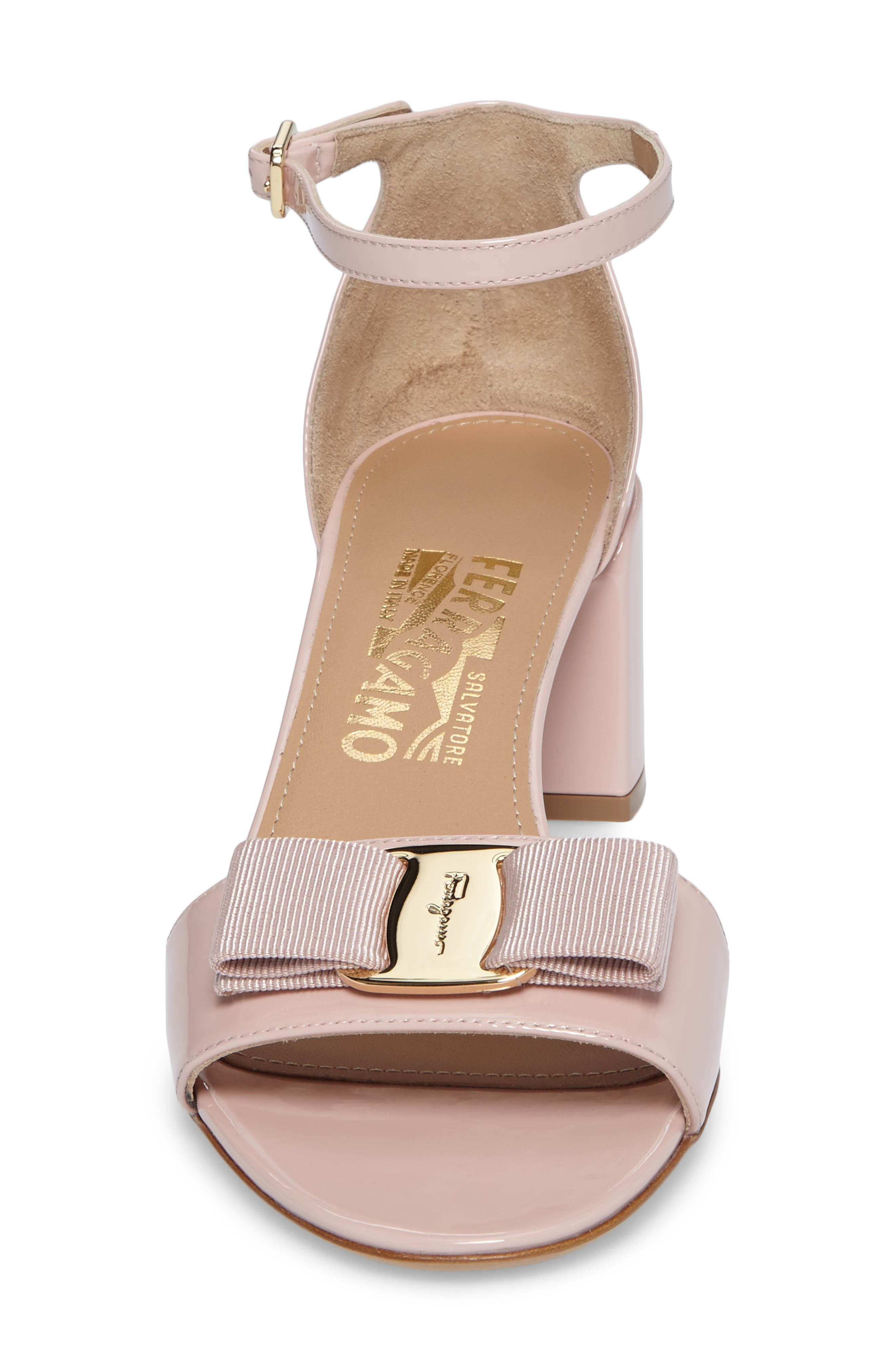 Gavina Ankle Strap Sandal,                             Alternate thumbnail 4, color,                             Bon Bon Pink