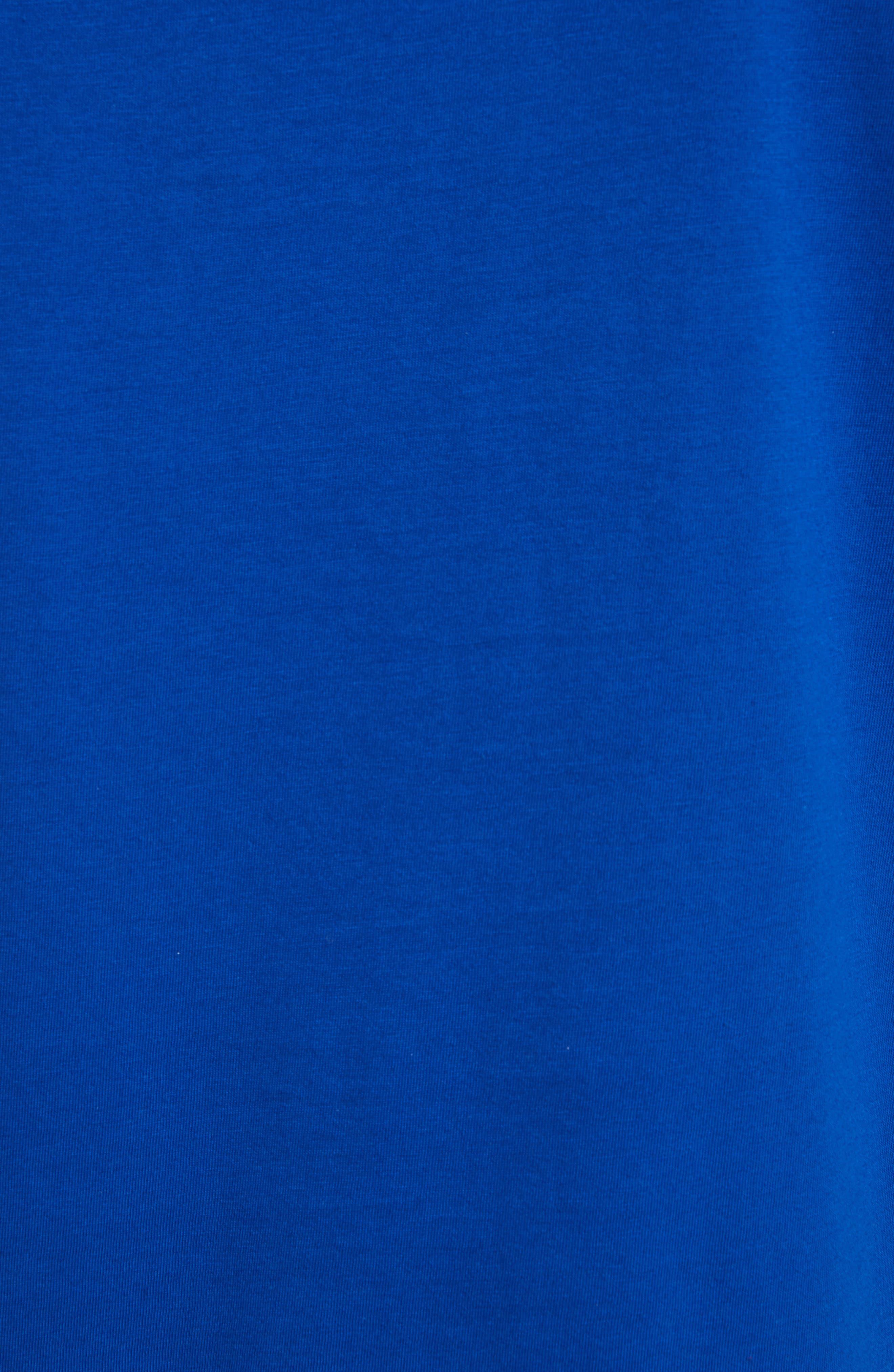 Abstract Medusa Print T-Shirt,                             Alternate thumbnail 5, color,                             Royal Blue
