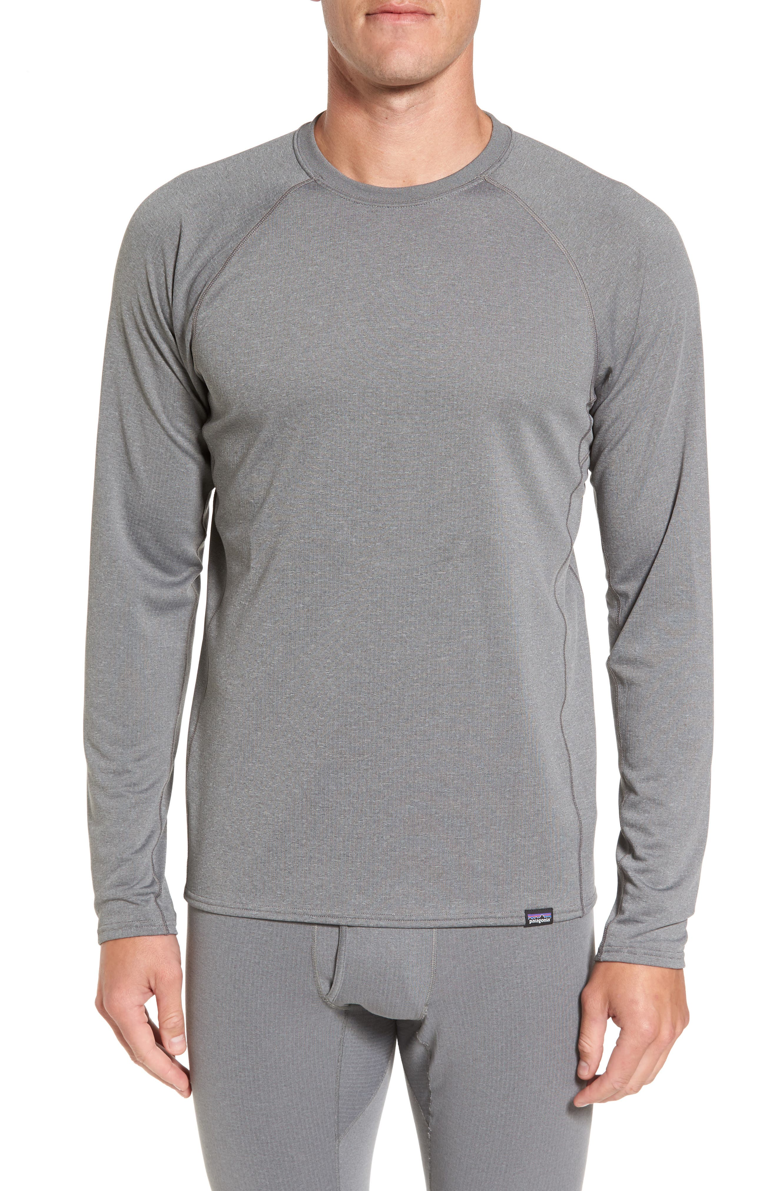 Capilene Midweight Base Layer T-Shirt,                         Main,                         color, Feather Grey X-Dye