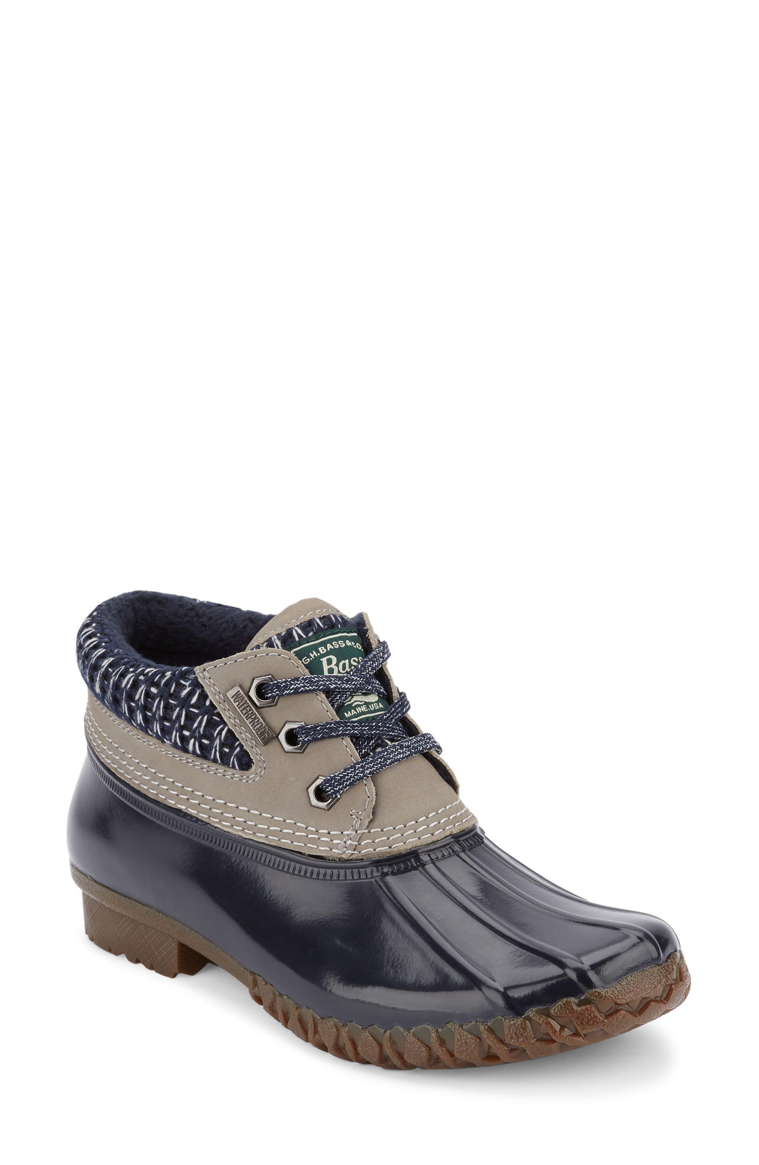 Dorothy Waterproof Duck Boot,                             Main thumbnail 1, color,                             Grey/ Navy