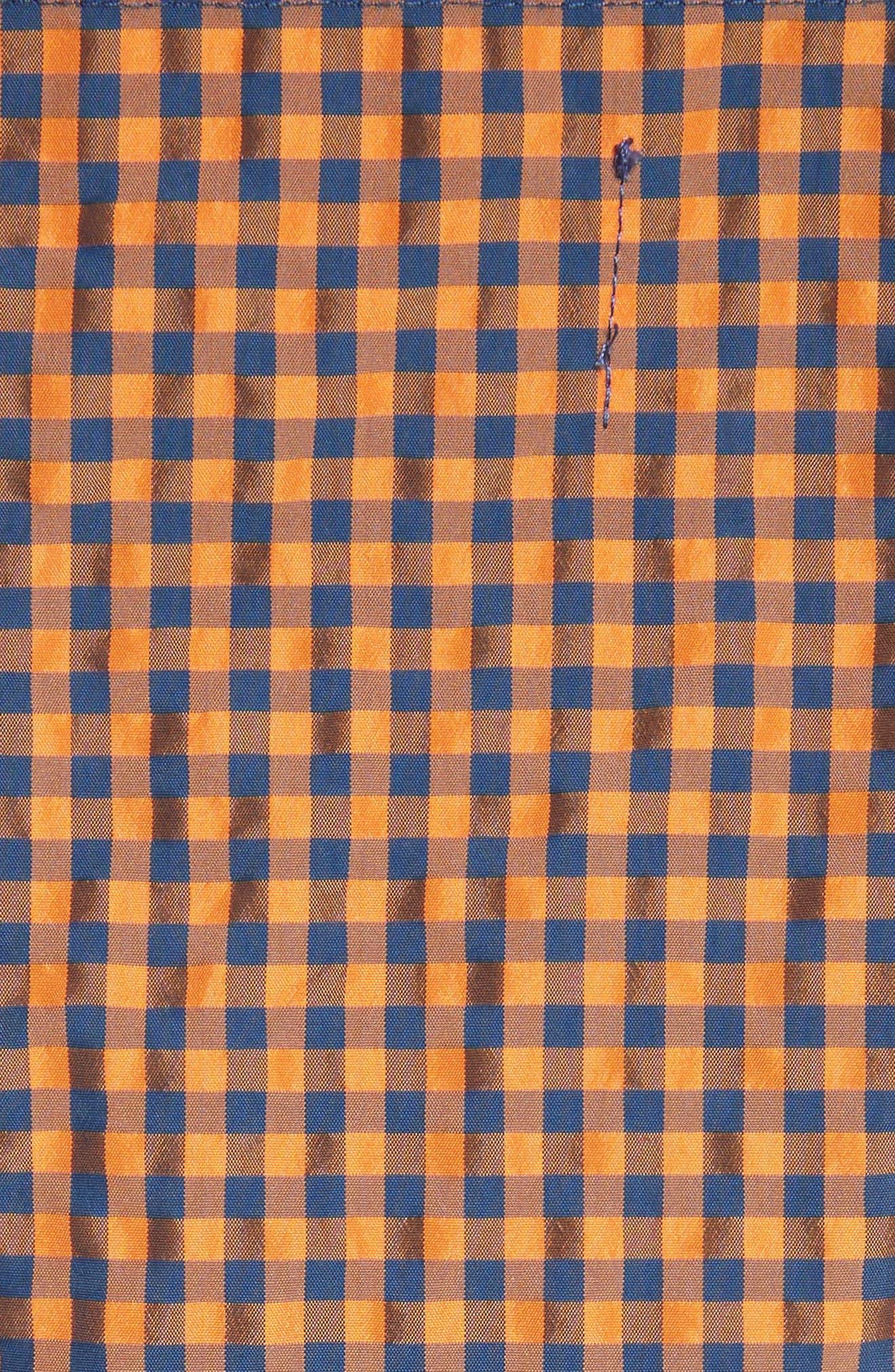 Marques'Almeida Classic Gingham Slip Top,                             Alternate thumbnail 5, color,                             Orange Gingham