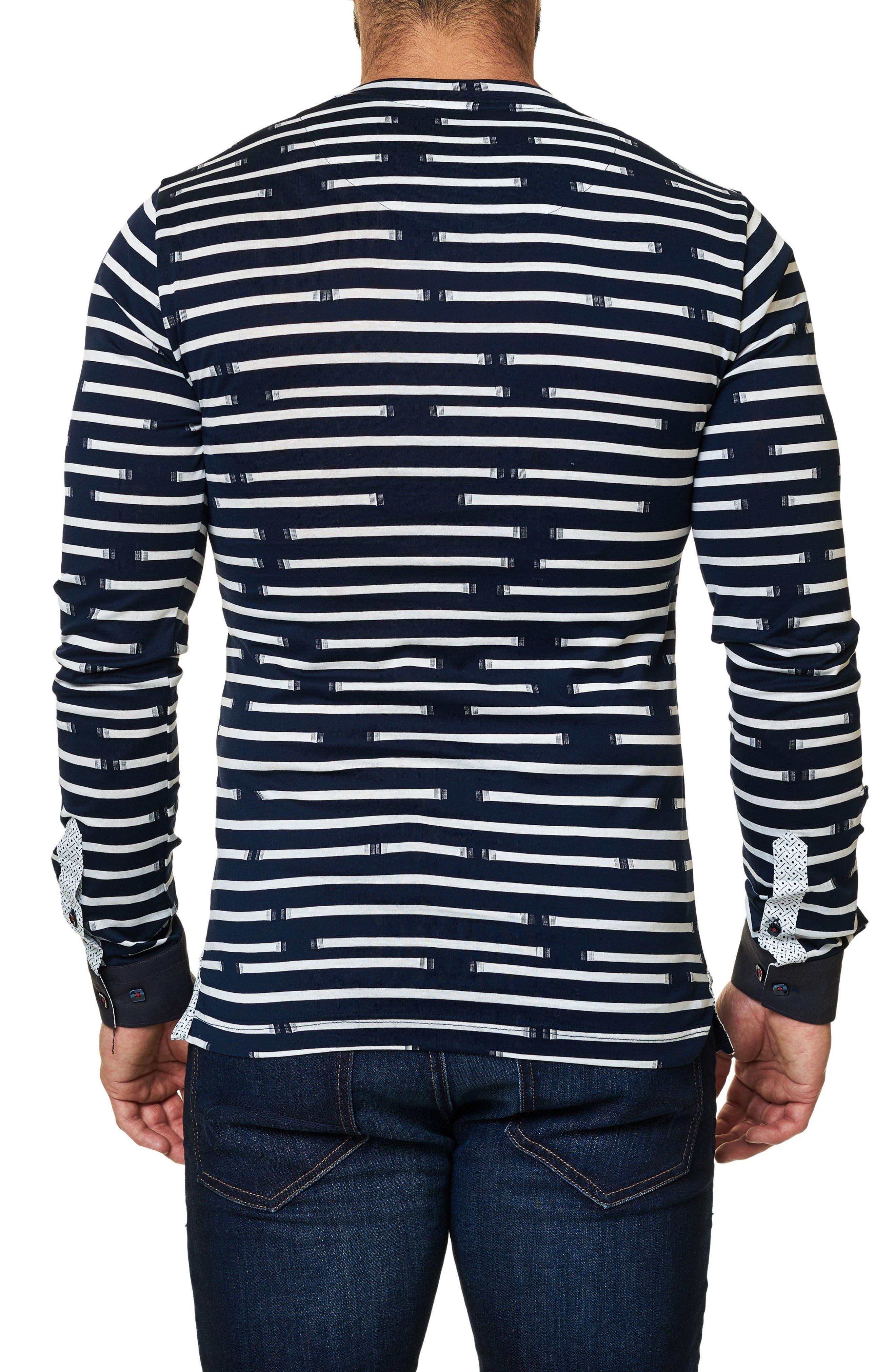 Print V-Neck T-Shirt,                             Alternate thumbnail 2, color,                             Navy Blue