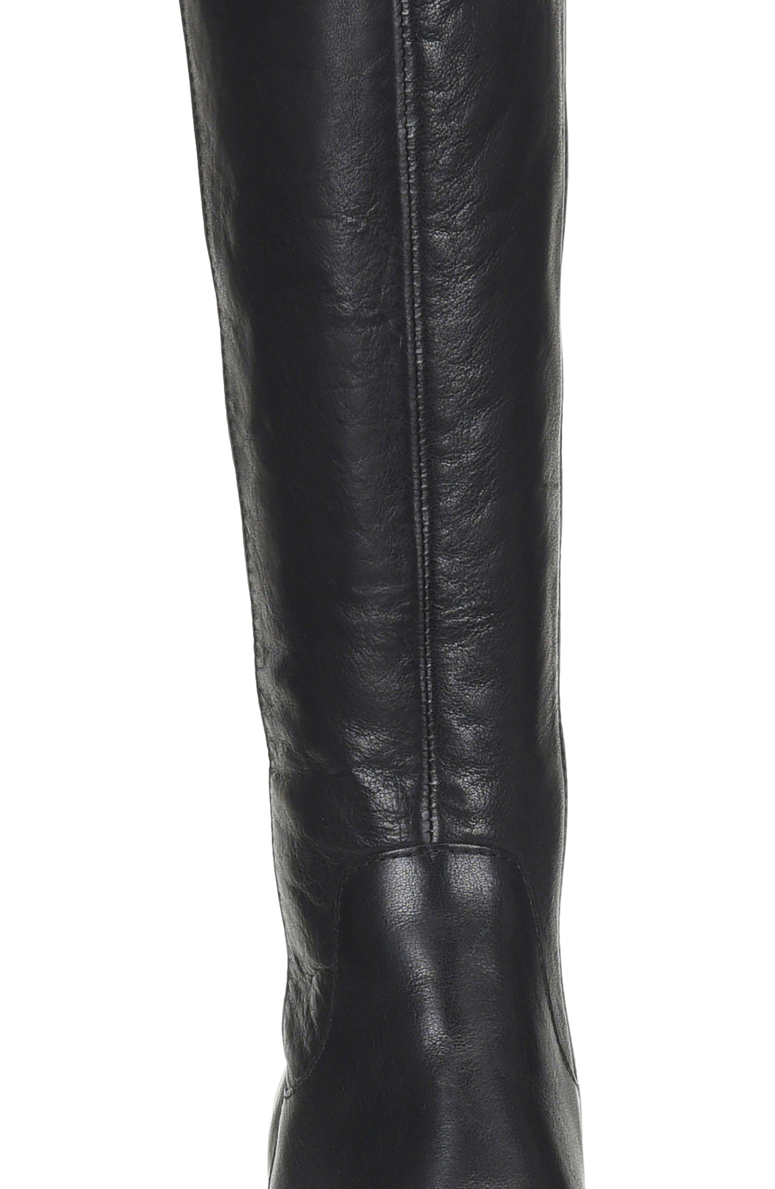 Avala Knee High Boot,                             Alternate thumbnail 4, color,                             Black Leather