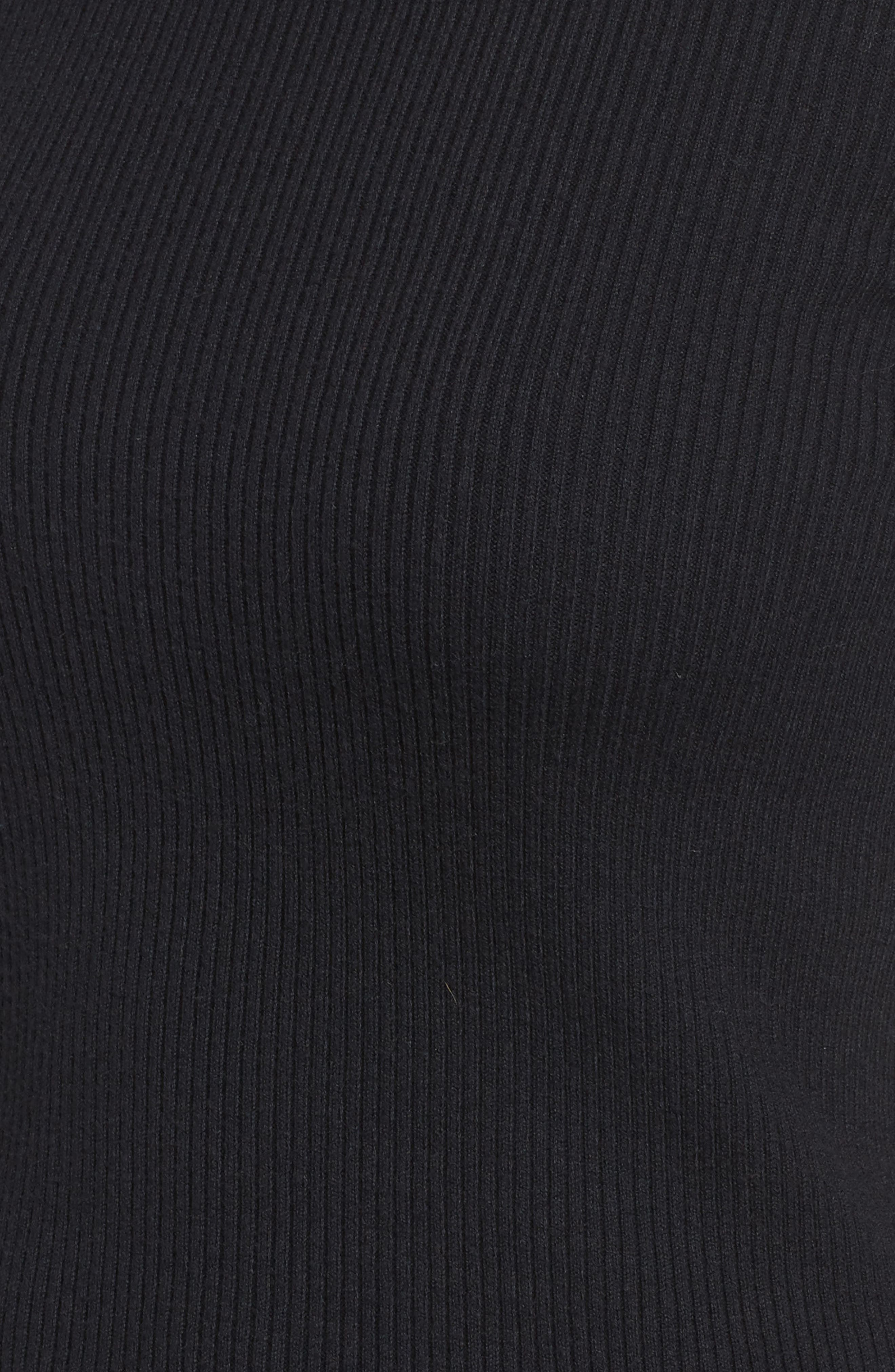 Bell Sleeve Sweater,                             Alternate thumbnail 5, color,                             Black- Grey Dark Heather Combo