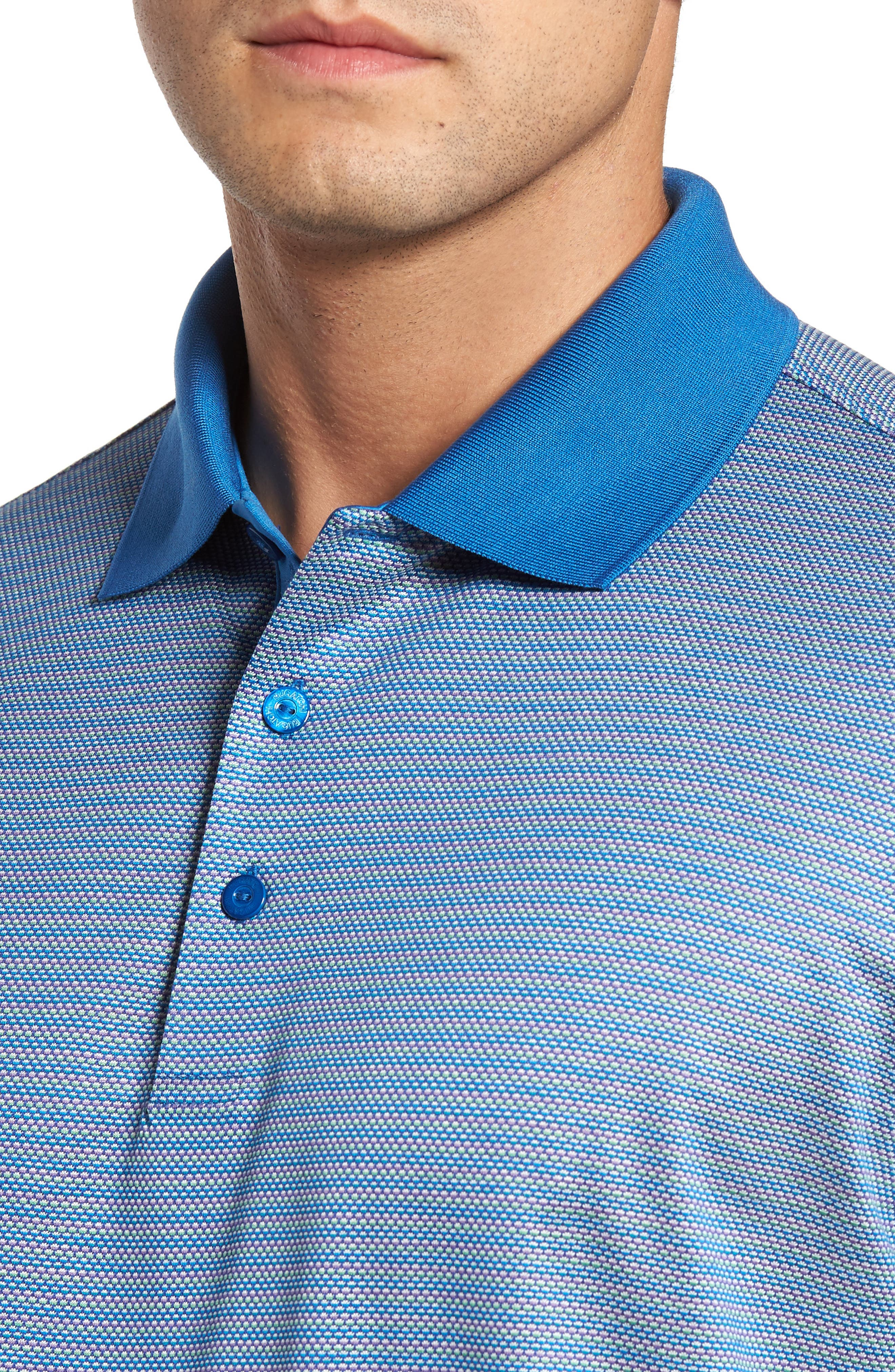Classic Fit Dobby Polo,                             Alternate thumbnail 4, color,                             Classic Blue