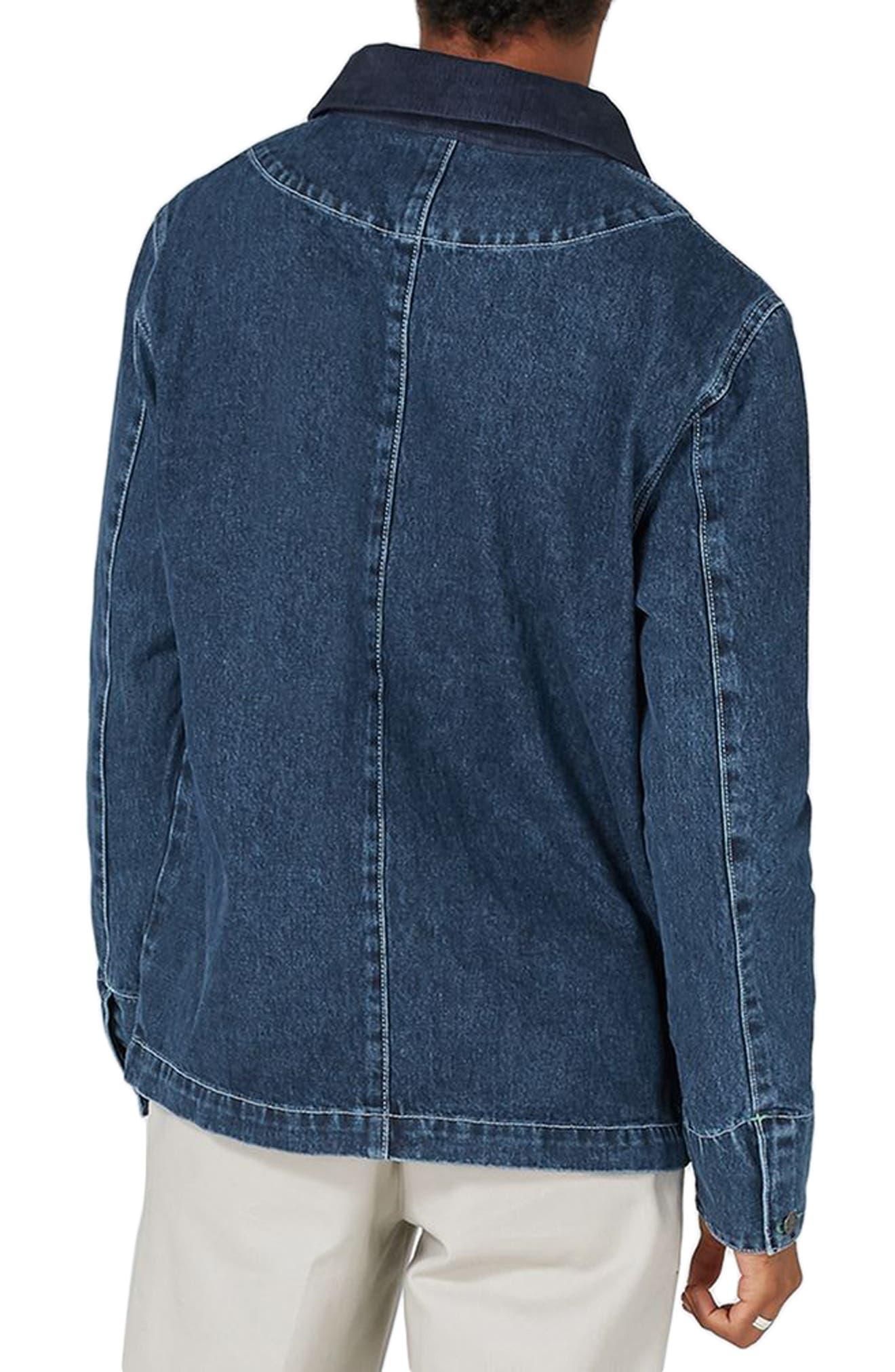 Alternate Image 2  - Topman Denim Workwear Jacket