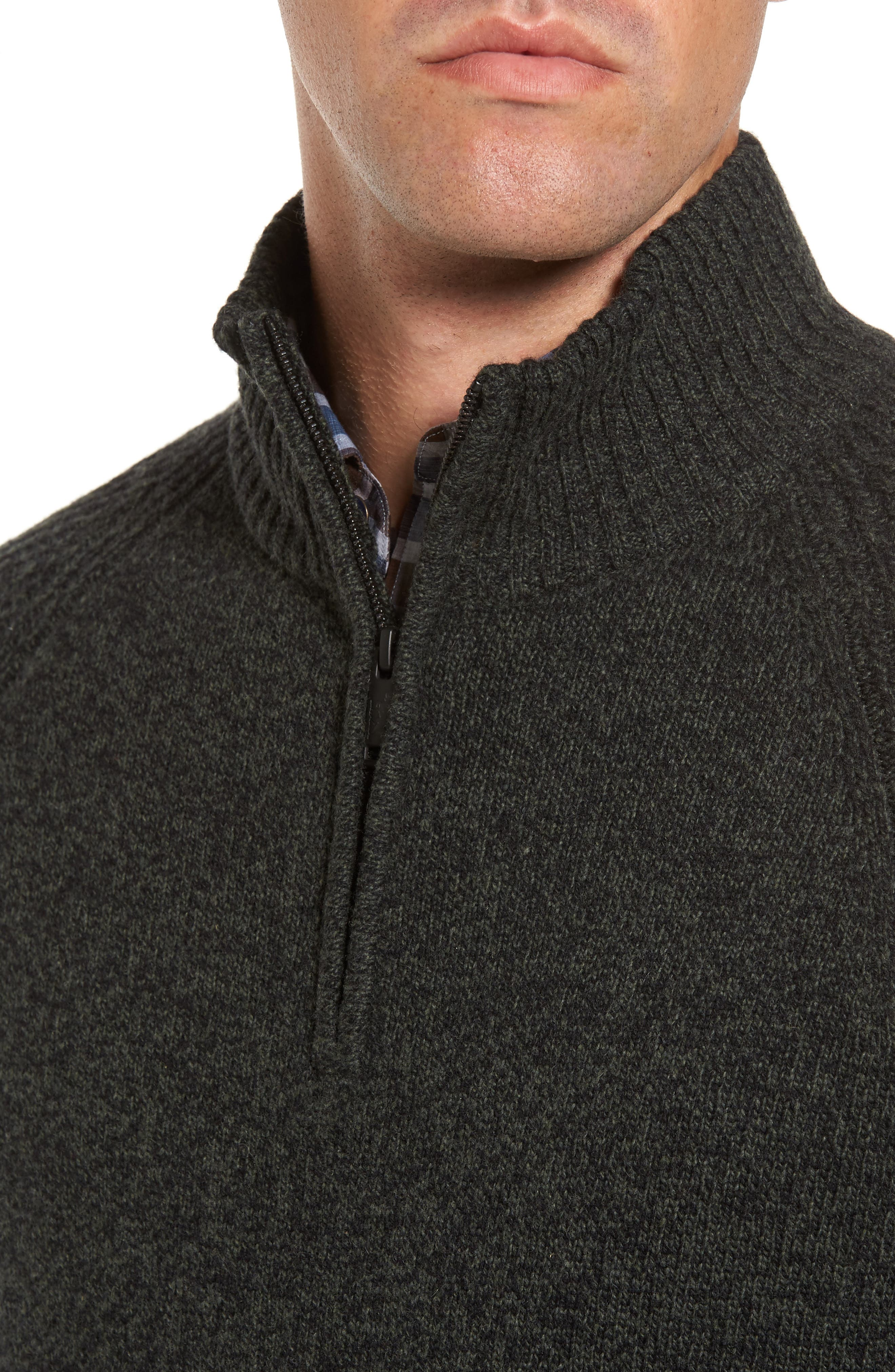 Stredwick Lambswool Sweater,                             Alternate thumbnail 4, color,                             Forest
