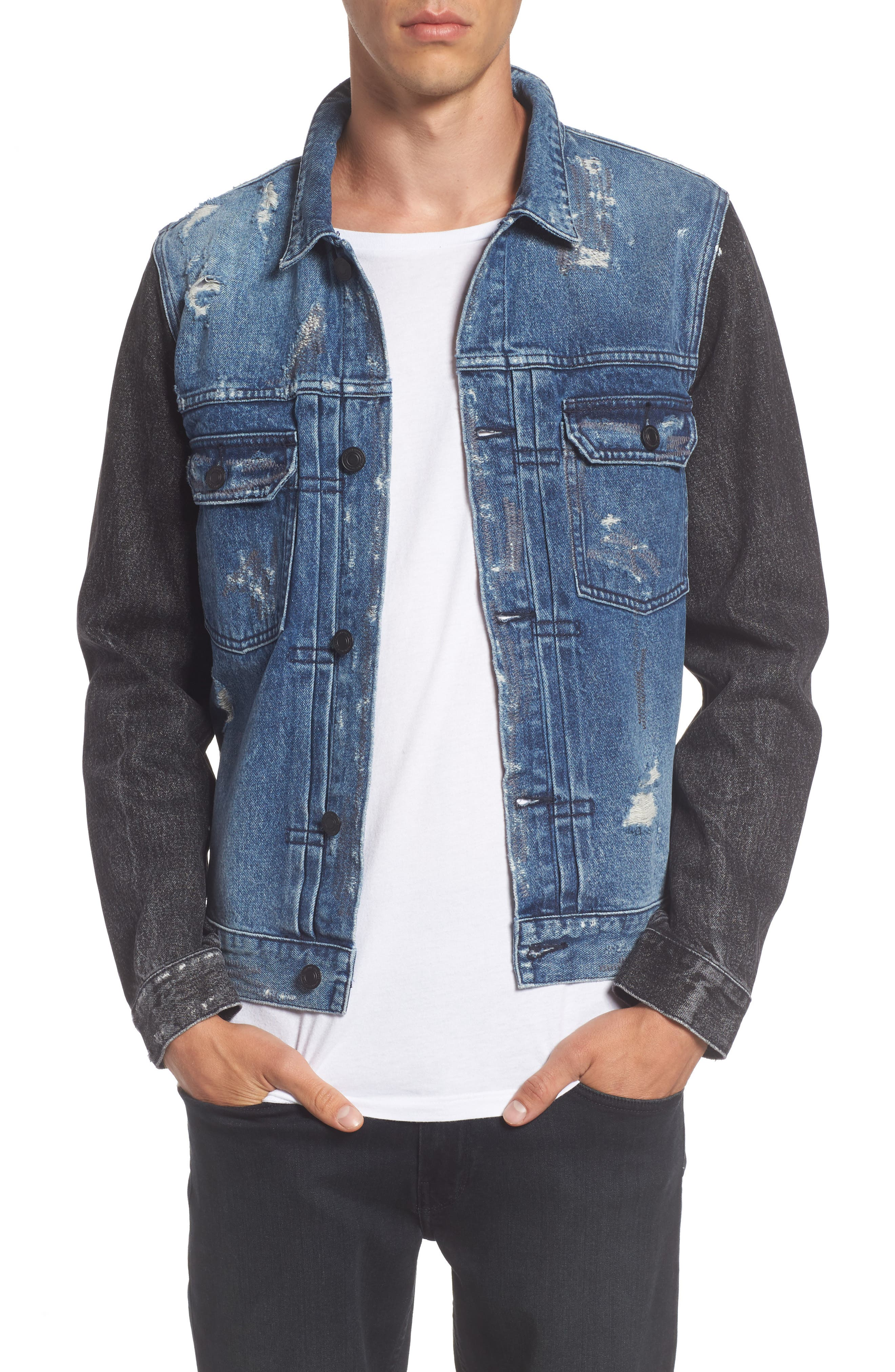 Trash Denim Jacket,                         Main,                         color, Metal