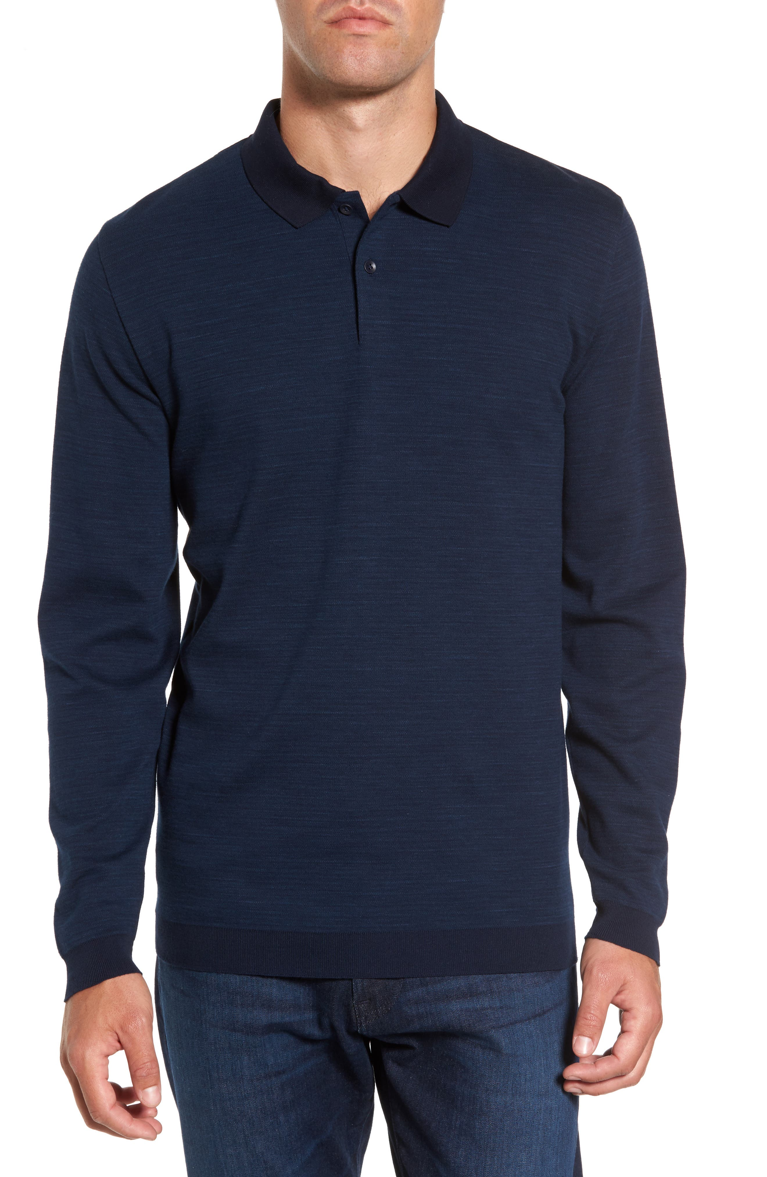 Shelton Cotton Sweater,                         Main,                         color, Ocean