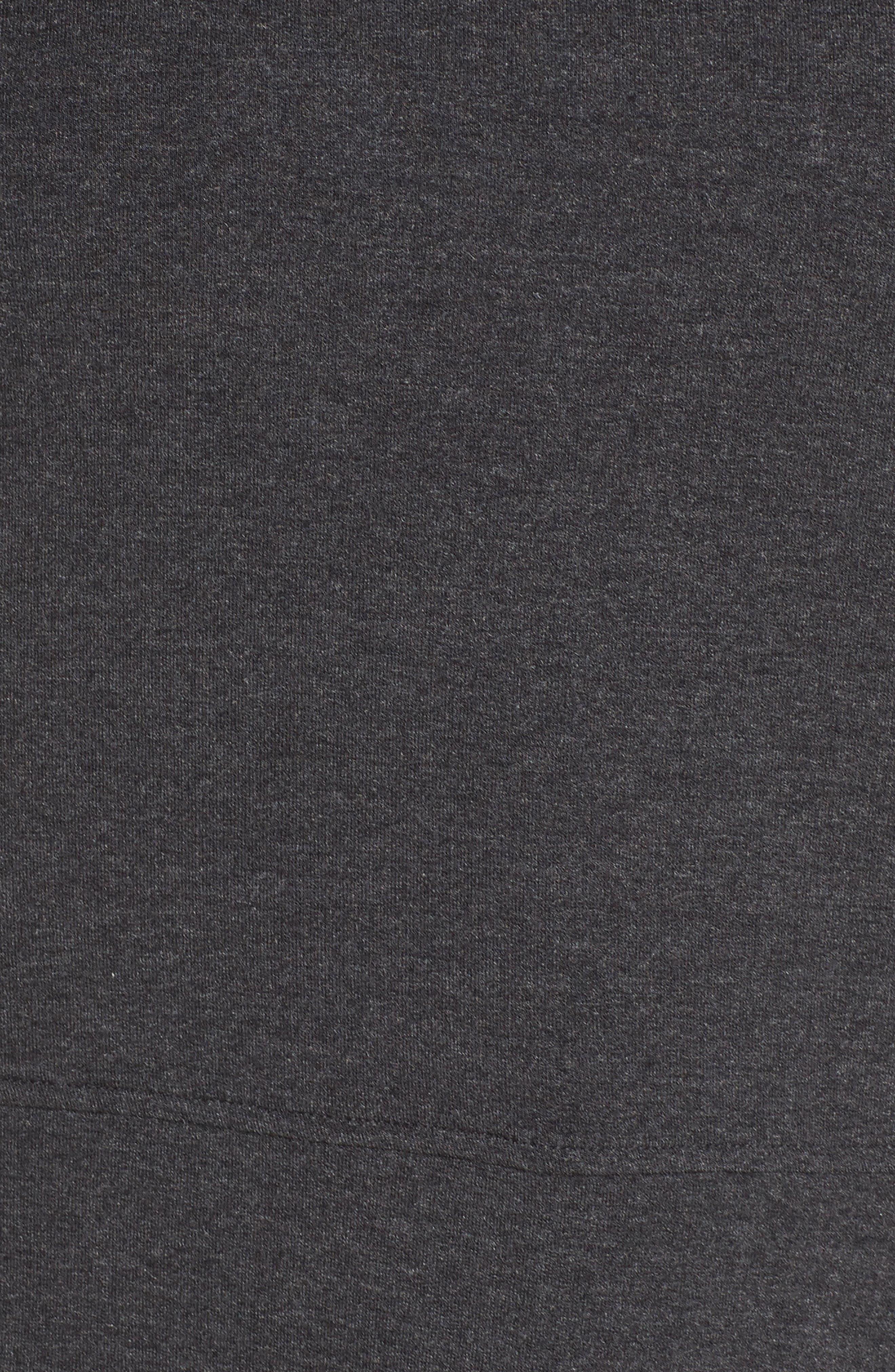 Funnel Neck Crop Sweatshirt,                             Alternate thumbnail 6, color,                             Black Heather