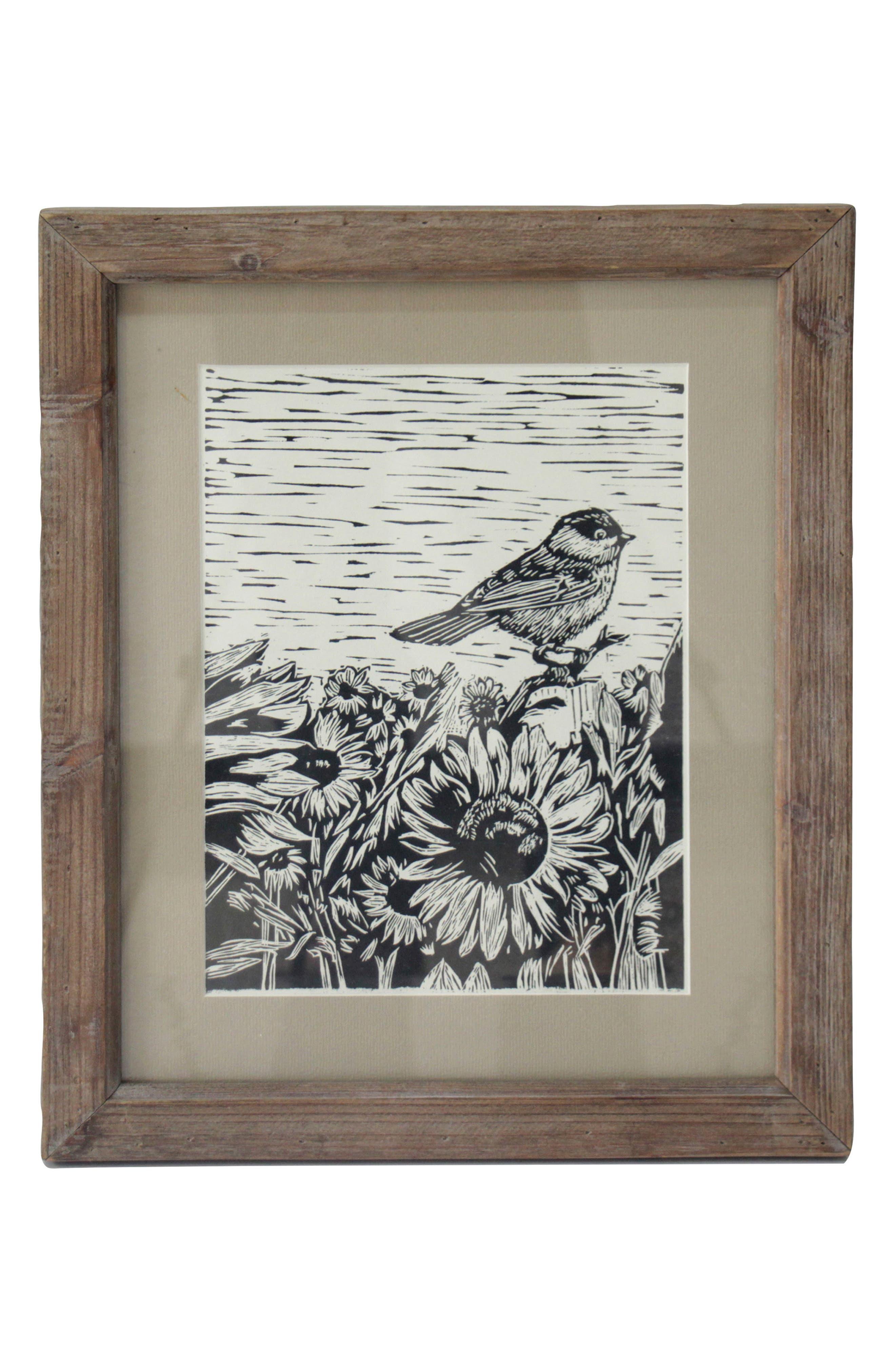 Sunflower Meadow Wall Art,                         Main,                         color, Wood/ Glass