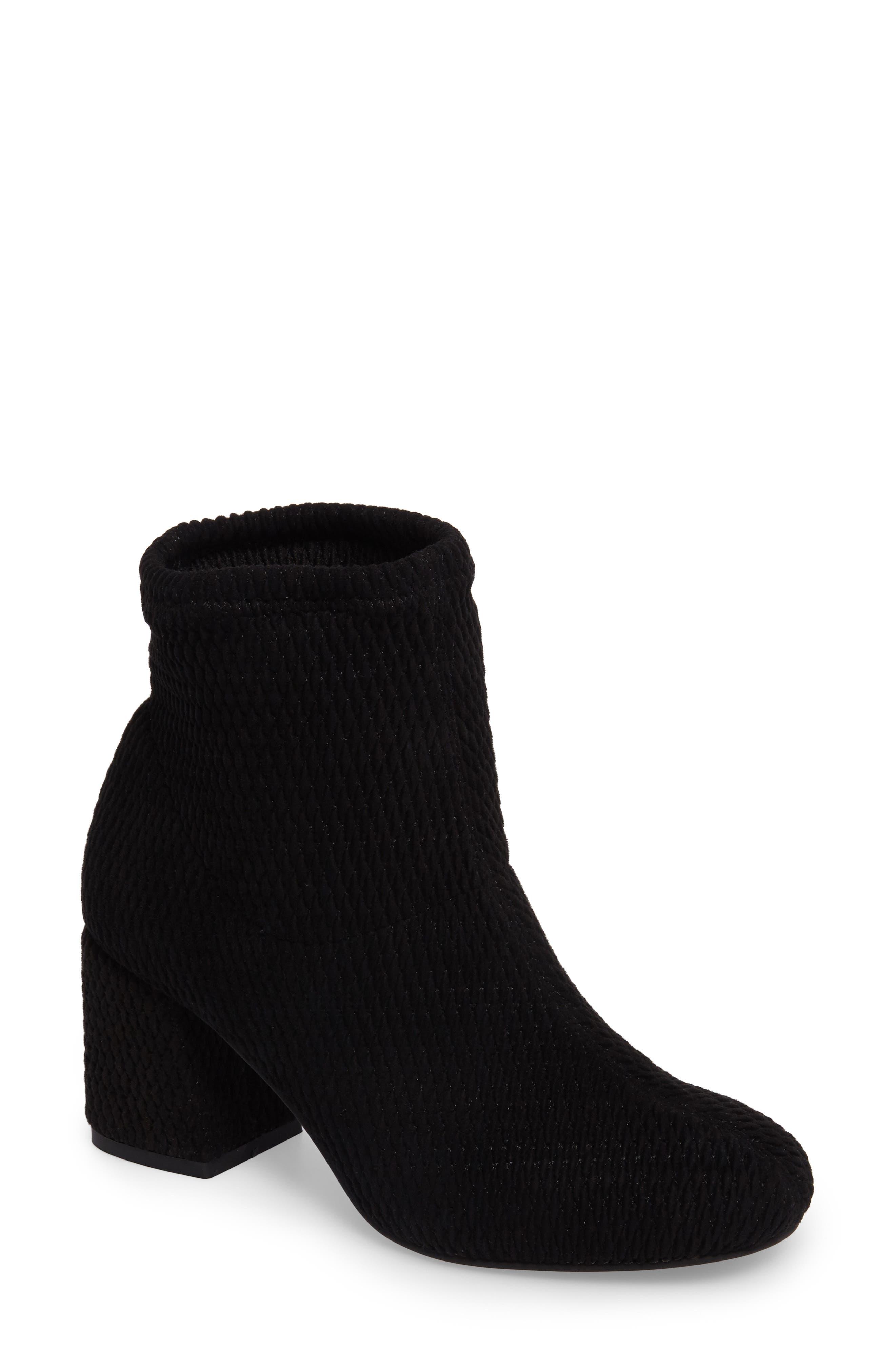 Ad Lib Sock Bootie,                         Main,                         color, Black Fabric
