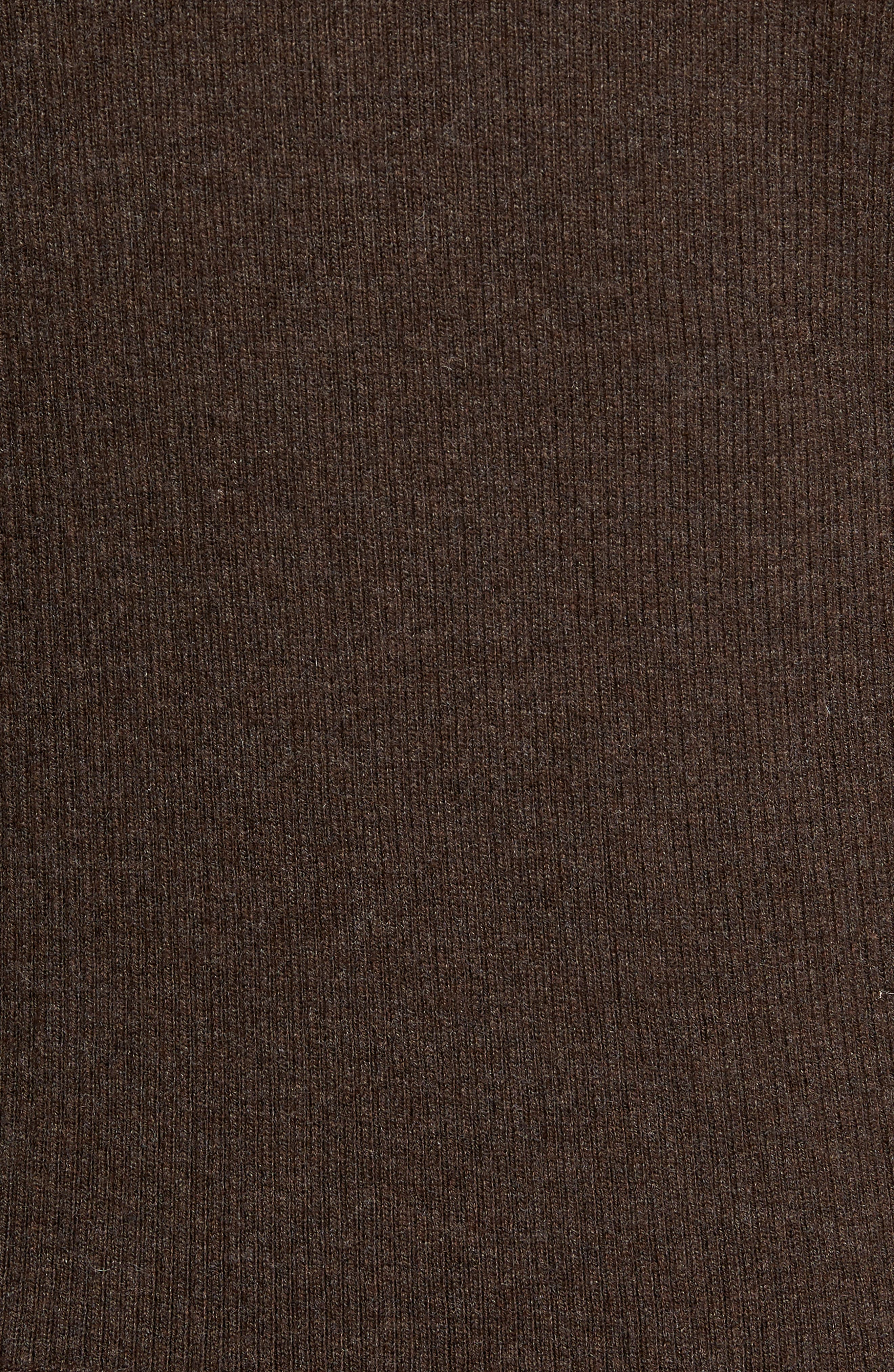 Crown Quilt Front Merino Wool Blend Cardigan,                             Alternate thumbnail 5, color,                             Canopy Brown