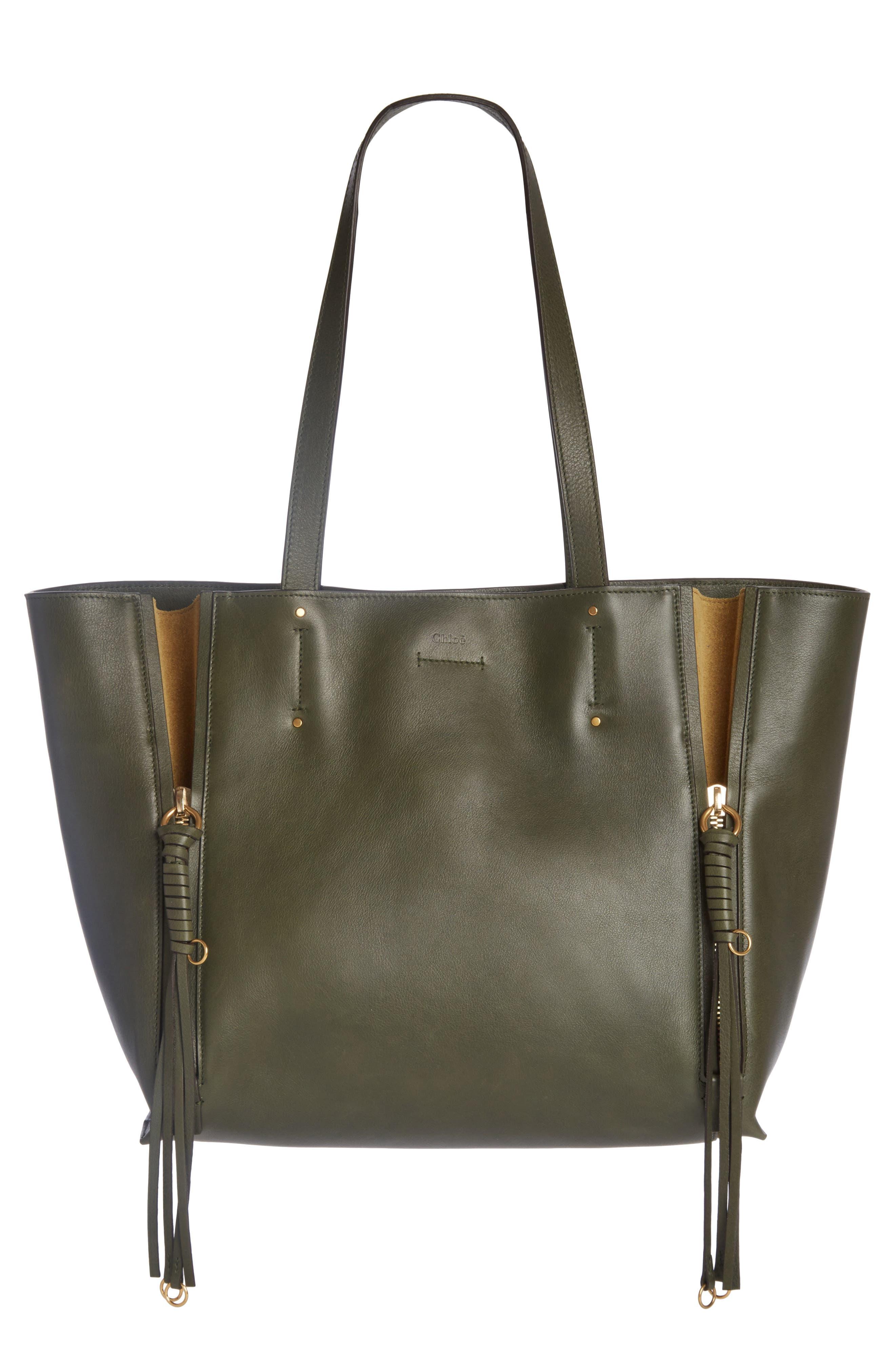 Chloé Medium Milo Calfskin Leather Tote