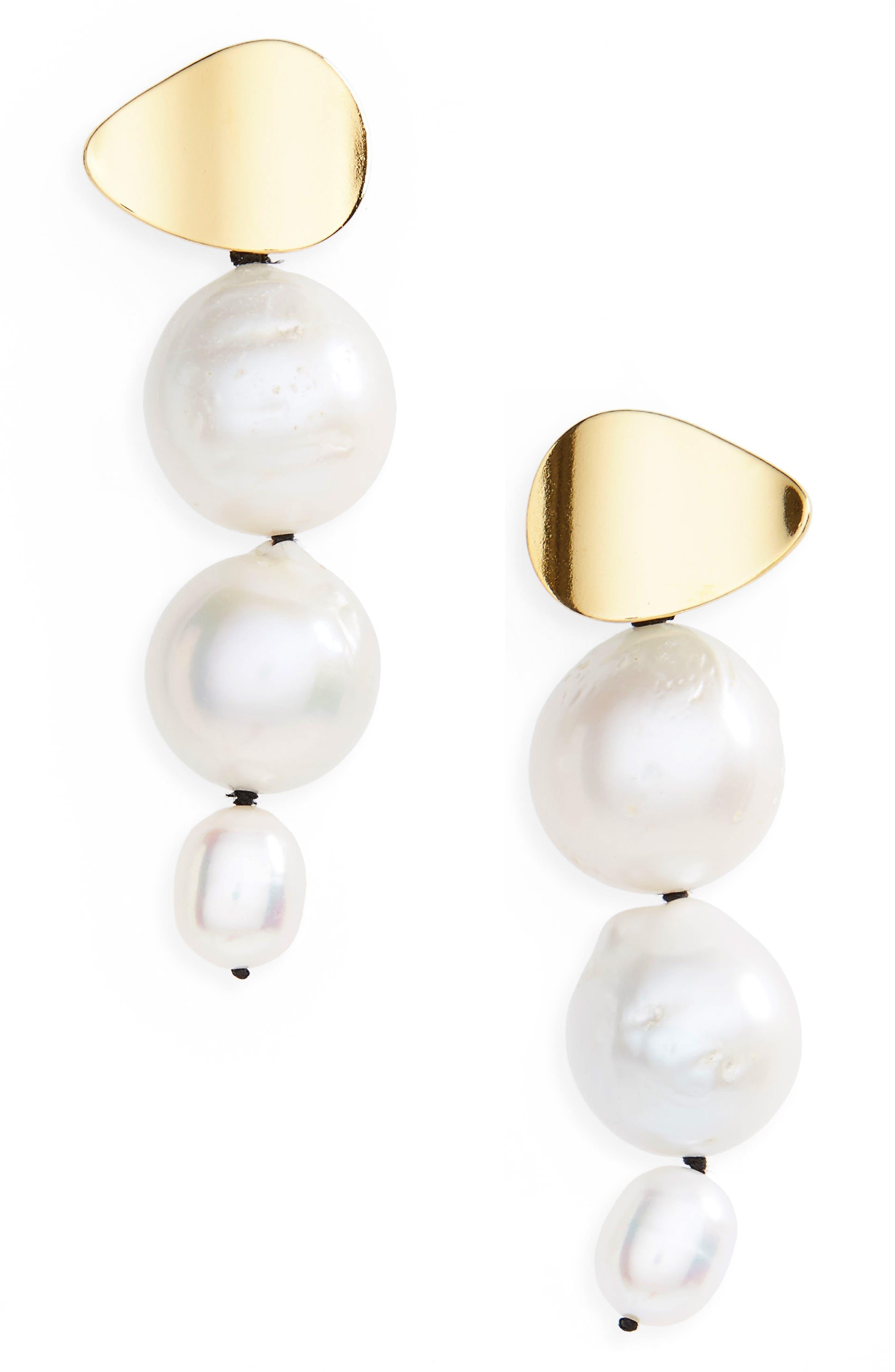 Main Image - Lizzie Fortunato Pearl Drop Earrings
