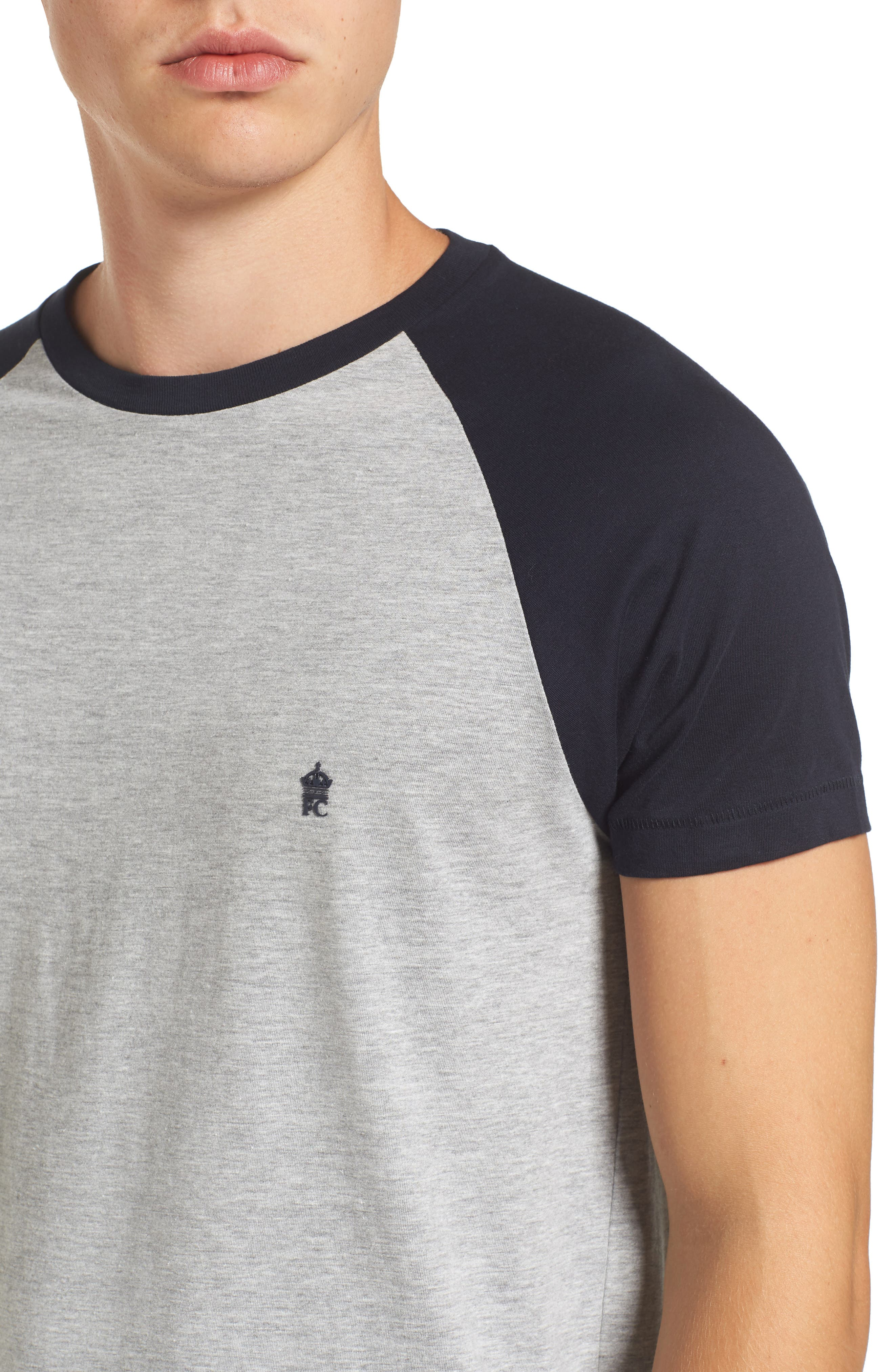 Alternate Image 4  - French Connection Raglan Short Sleeve T-Shirt