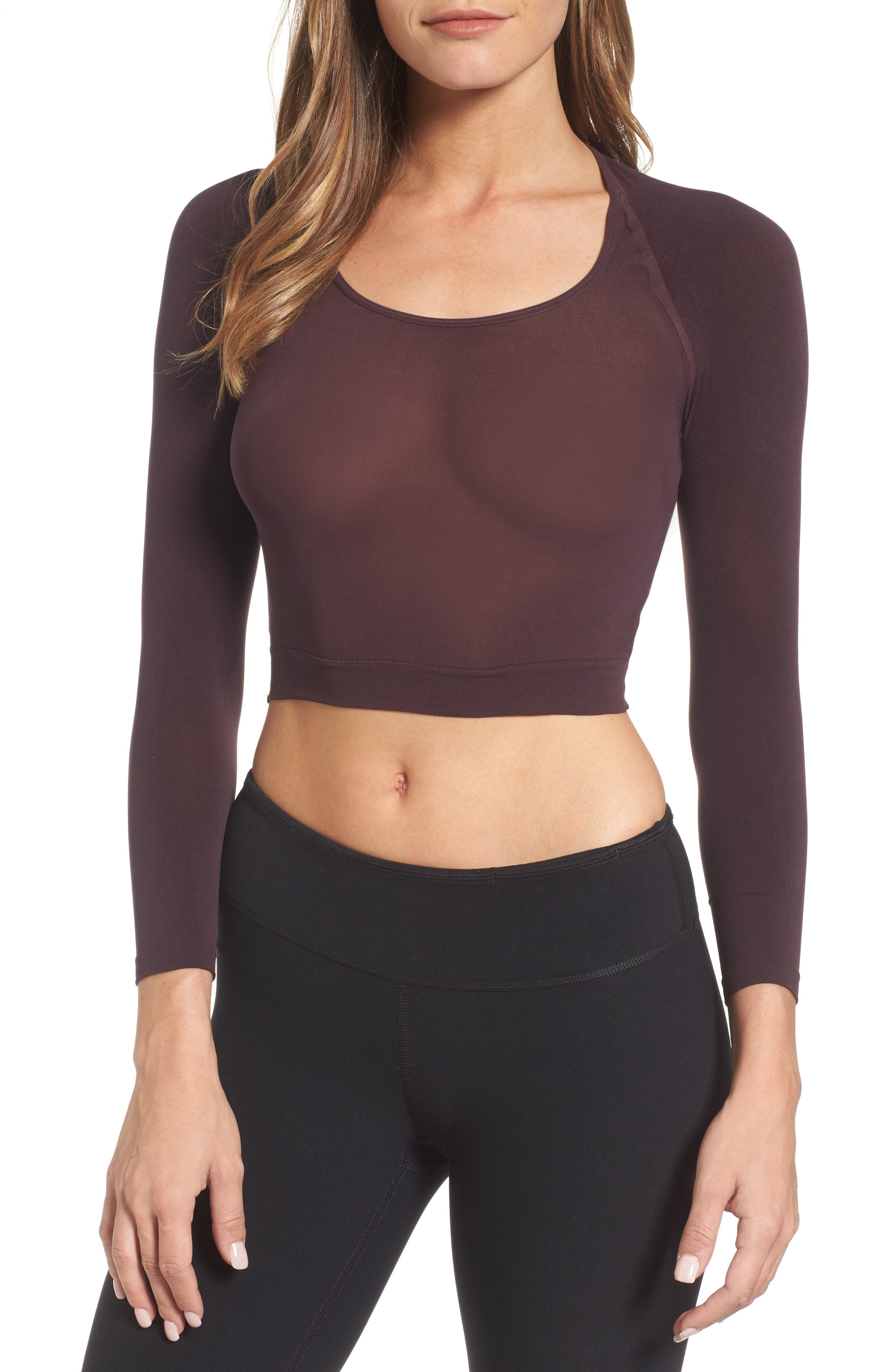 Alternate Image 1 Selected - SPANX® Arm Tights Crop Top