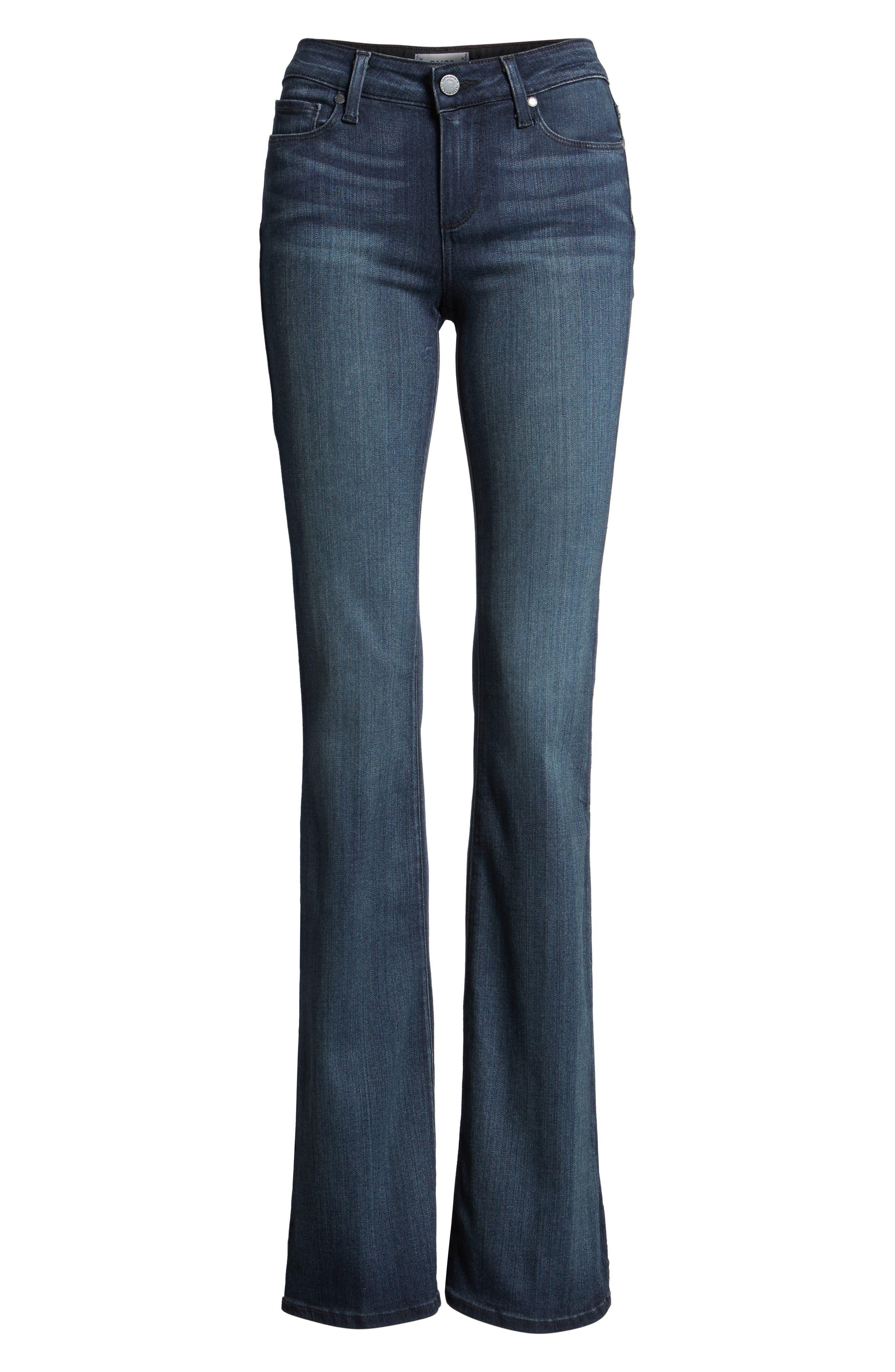 Alternate Image 5  - PAIGE Transcend - Skyline Bootcut Jeans (Valor)