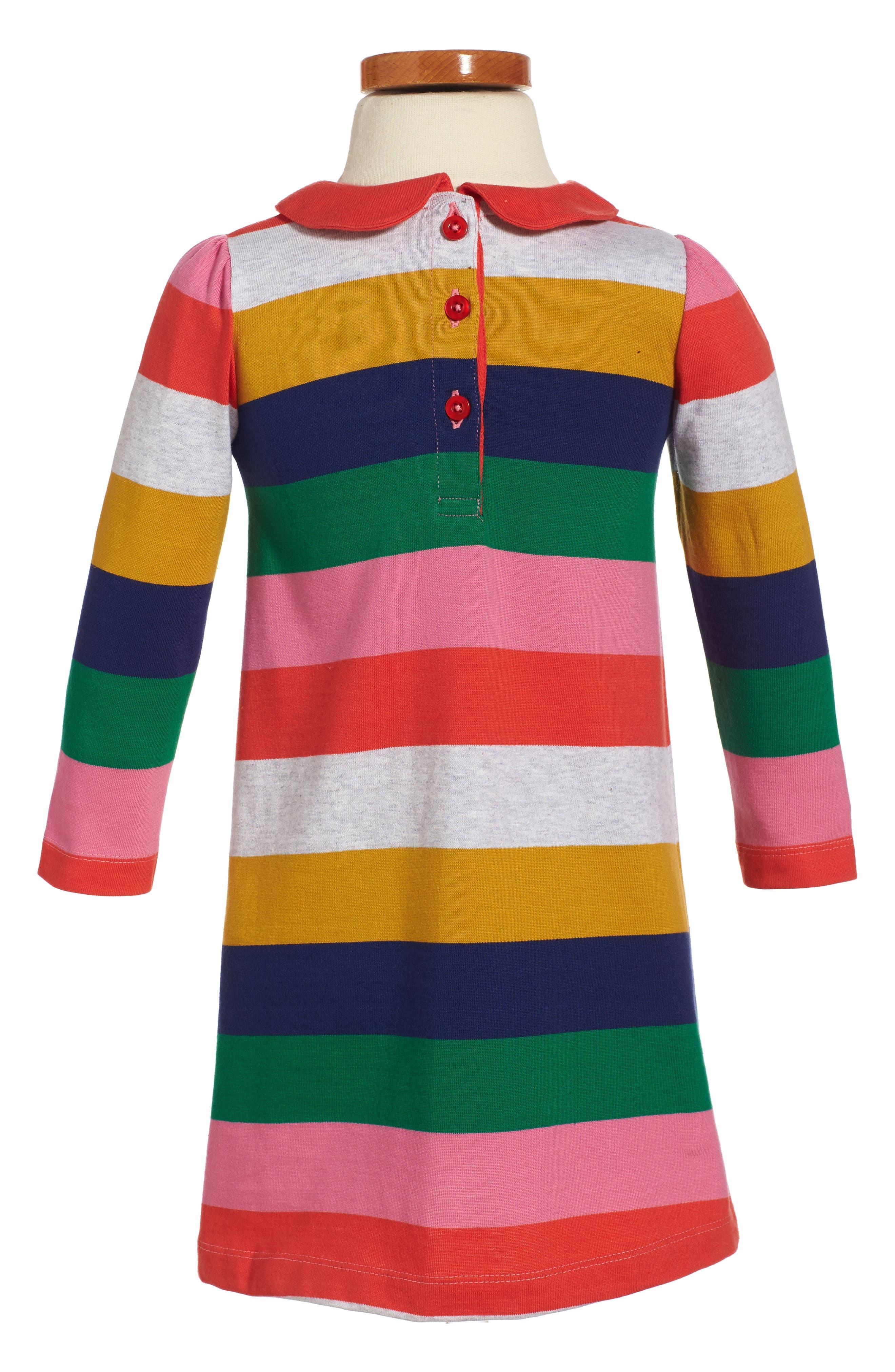 Alternate Image 2  - Mini Boden Collared Jersey Dress (Toddler Girls, Little Girls & Big Girls)