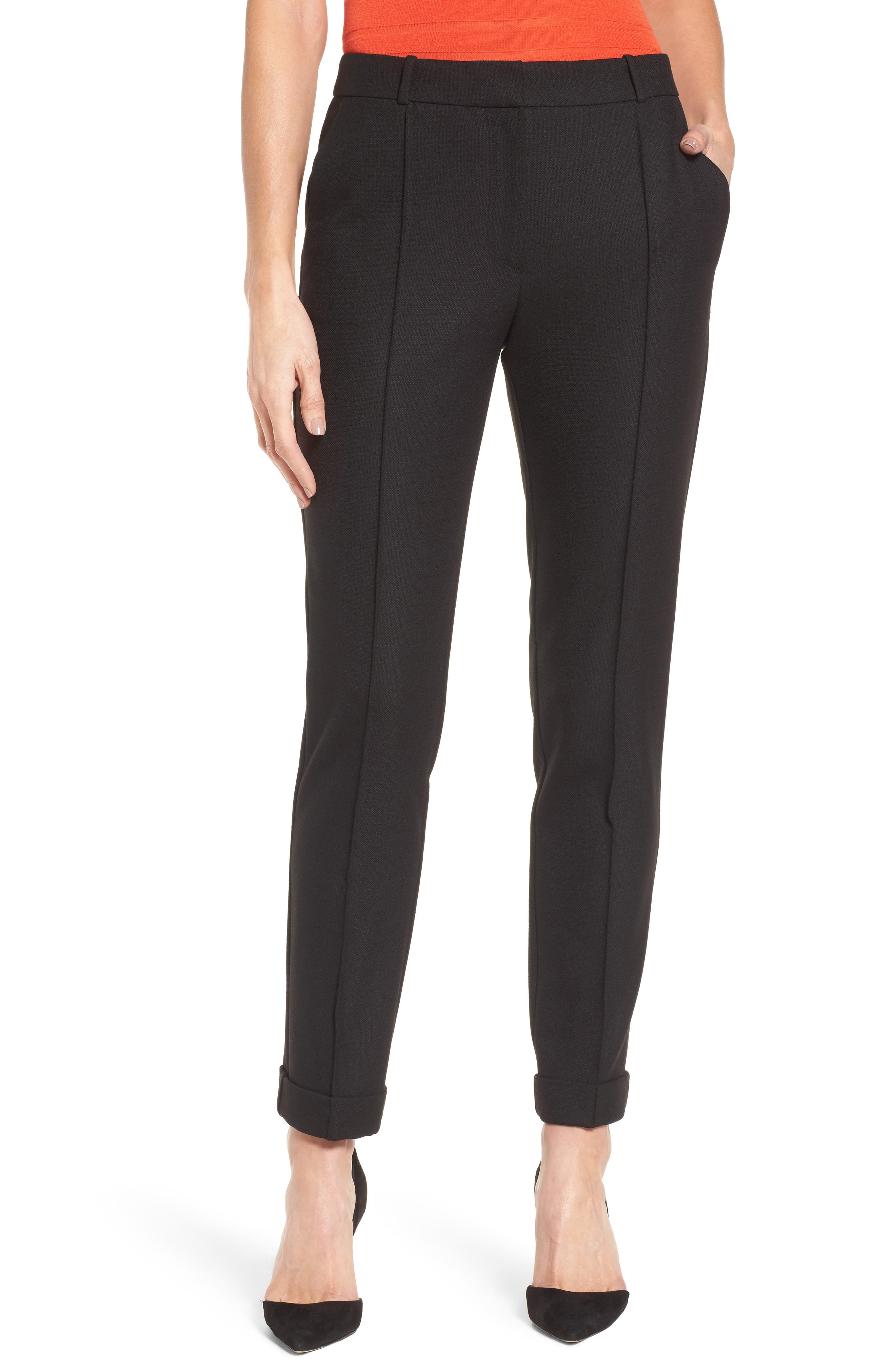BOSS Acrila Straight Leg Suiting Trousers (Nordstrom Exclusive) (Petite)