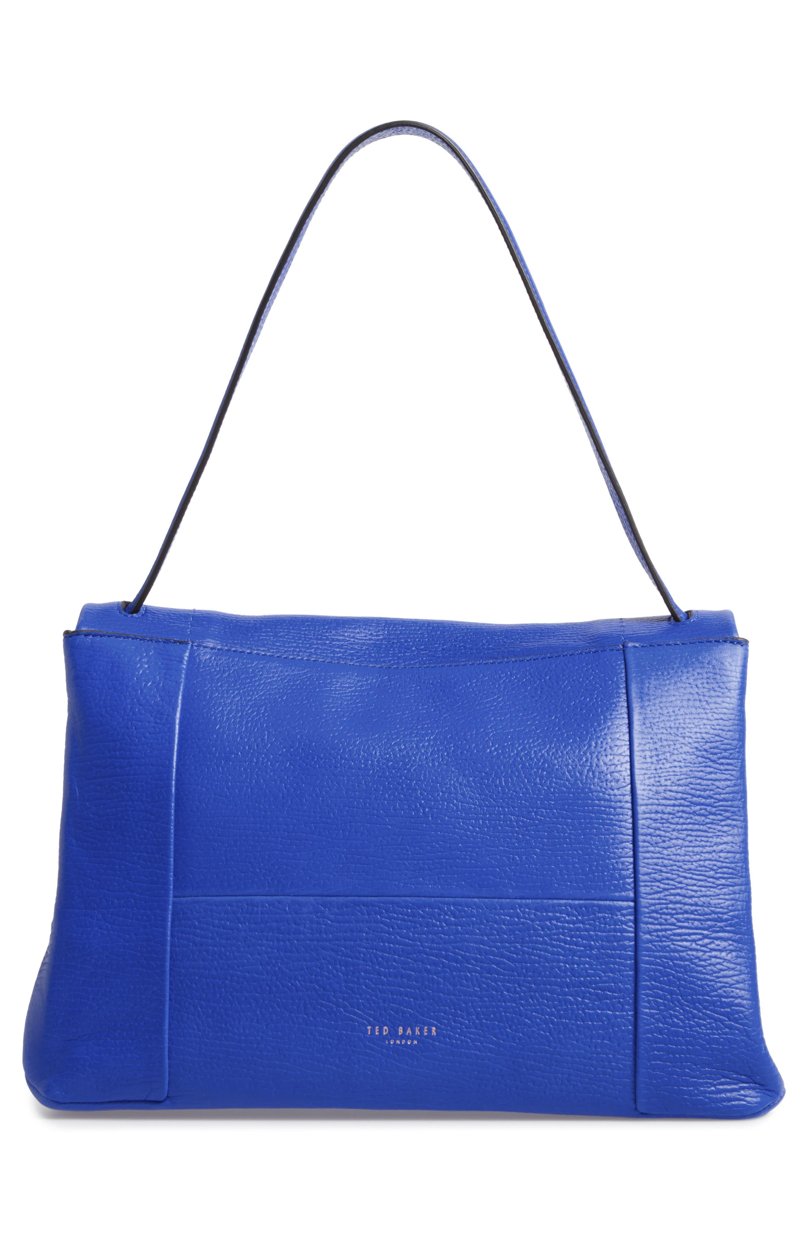 Proter Leather Shoulder Bag,                             Alternate thumbnail 2, color,                             Bright Blue